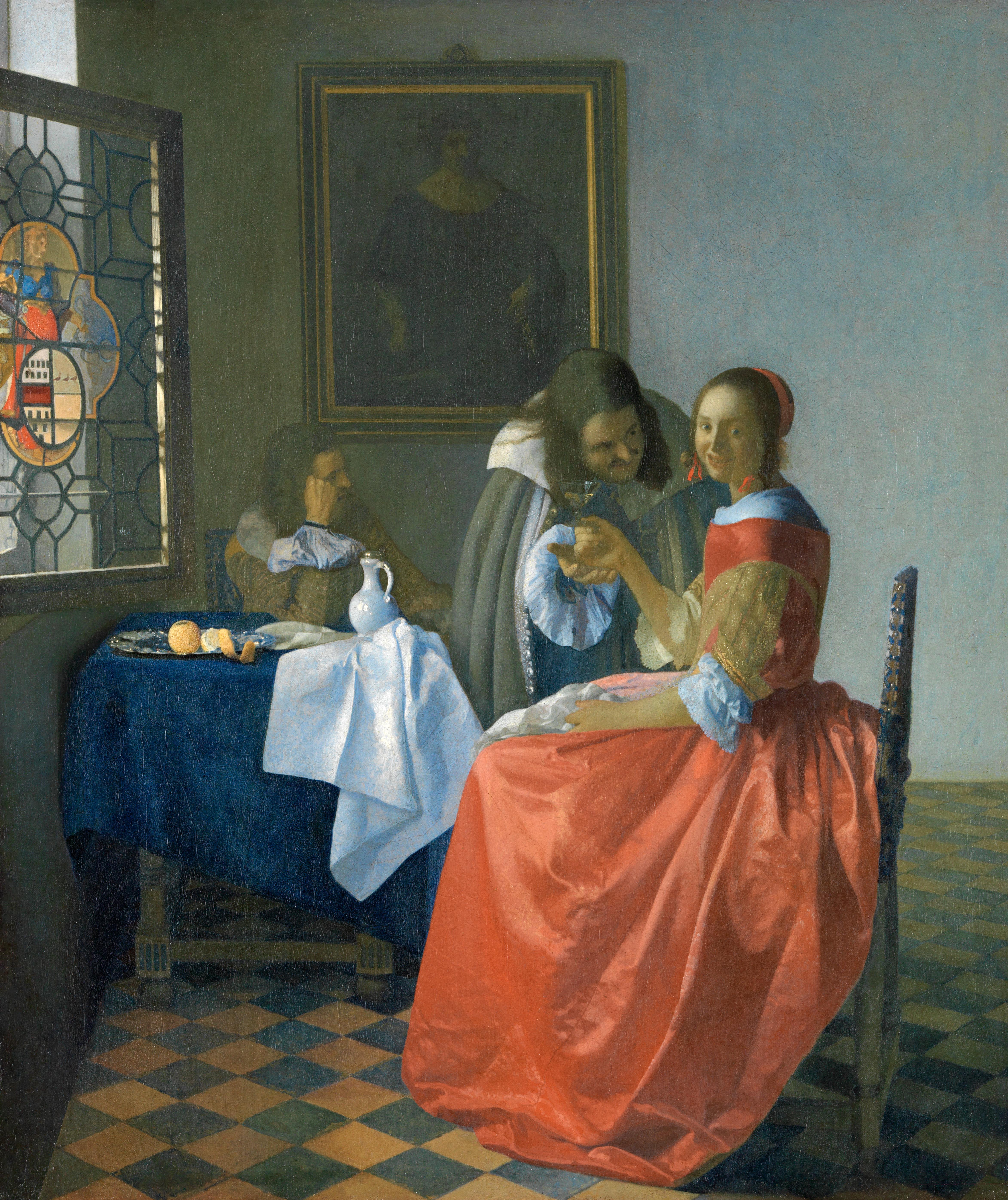 Jan Vermeer, Das Mädchen mit dem Weinglas, Foto: Cordes, HAUM