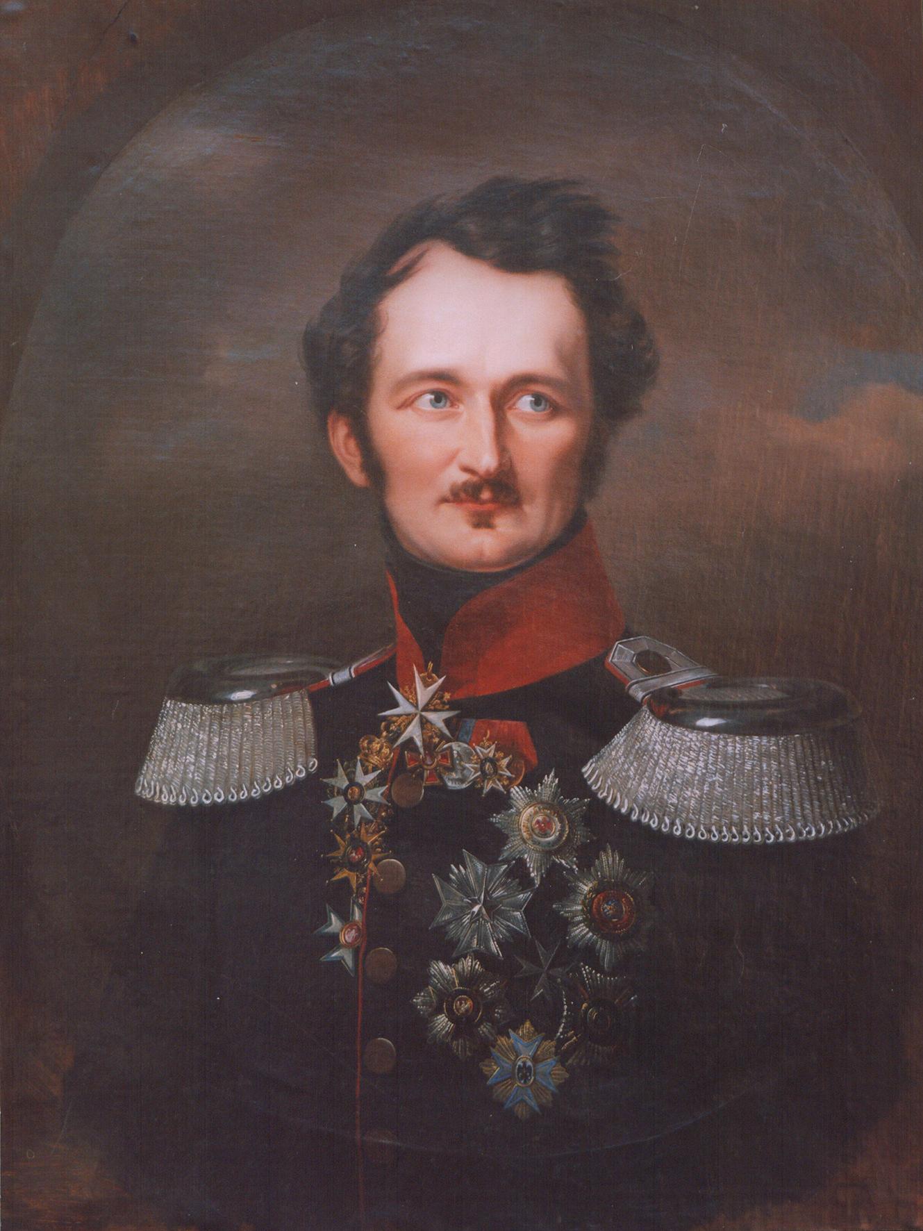 Franz Krüger: Hermann Fürst von Pückler-Muskau in preußischer Uniform, 1846, Öl auf Leinwand. Leihgabe Hermann Graf von Pückler, München. © Hermann Graf Pückler, München/Branitz