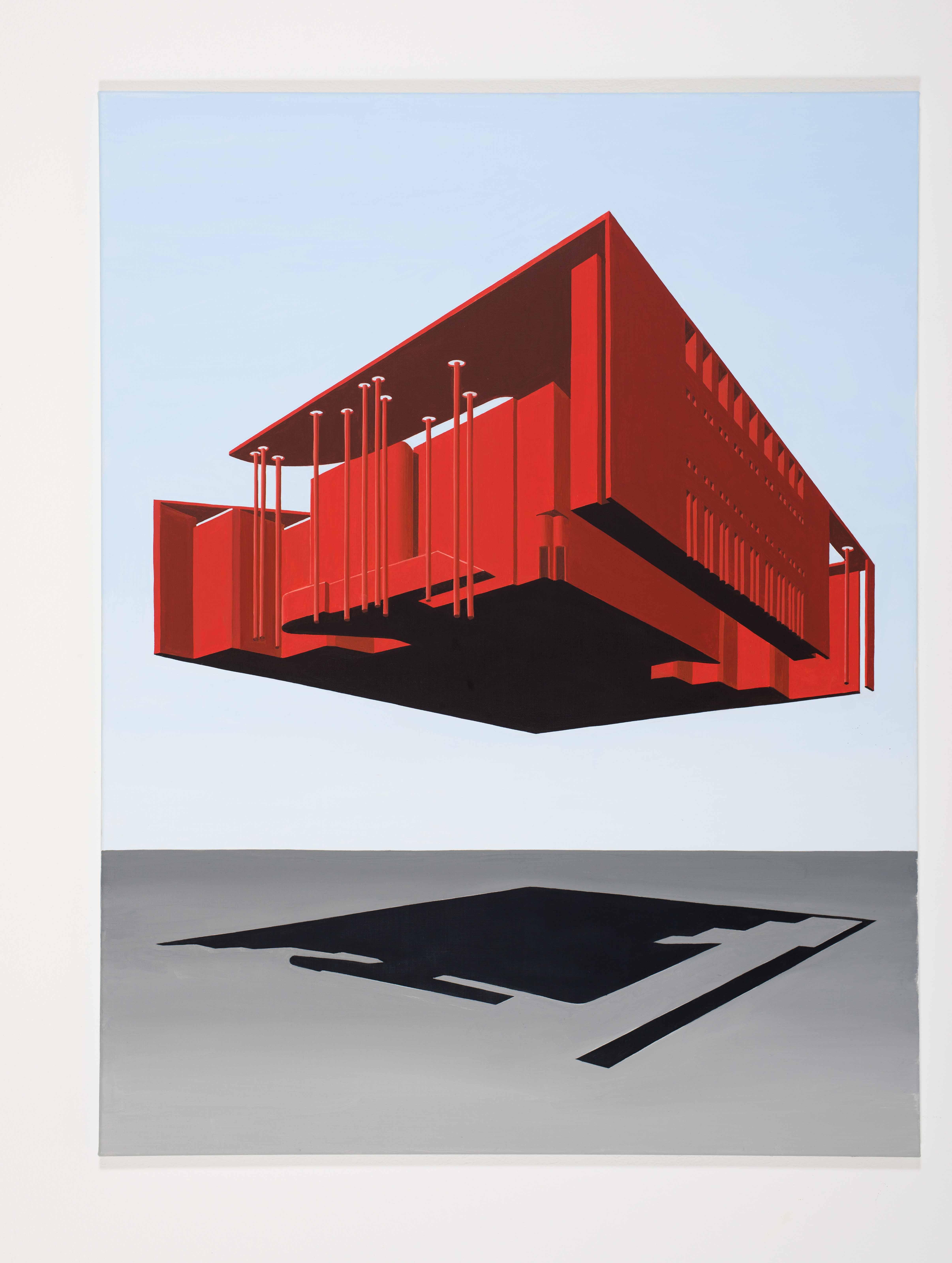 Thomas Huber: Am Horizont II, 2016, Öl auf Leinwand. 130 x 110 cm. Foto: Winfried Mateyka, Berlin. Copyright VG Bild-Kunst, Bonn 2016.
