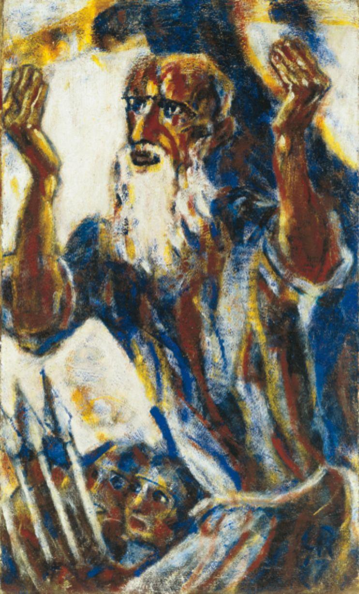 """Christian Rohlfs, """"Der Prophet"""" 1917, Öl auf Leinwand, 110,5 x 61,5 cm © Kunsthalle zu Kiel, Foto: Martin Frommhagen"""
