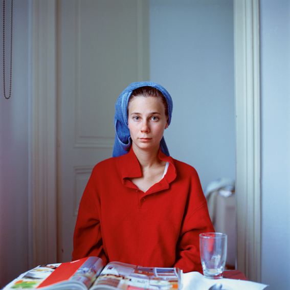 Melinda after hairwashing (up), 2005, Paris