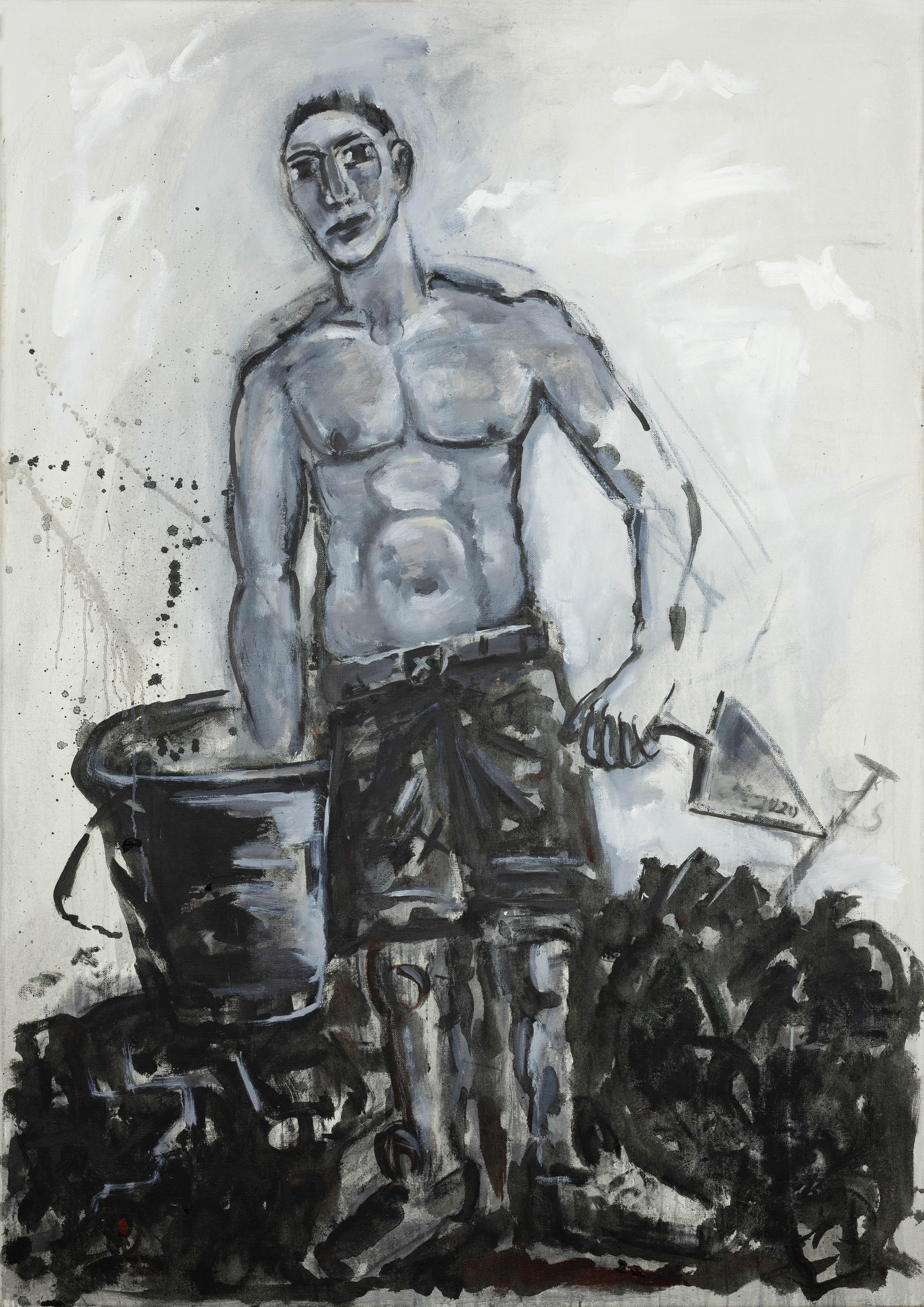 Ralf Kerbach - Freier Maurer, 2019, Öl auf Leinwand, 170 x 120 cm