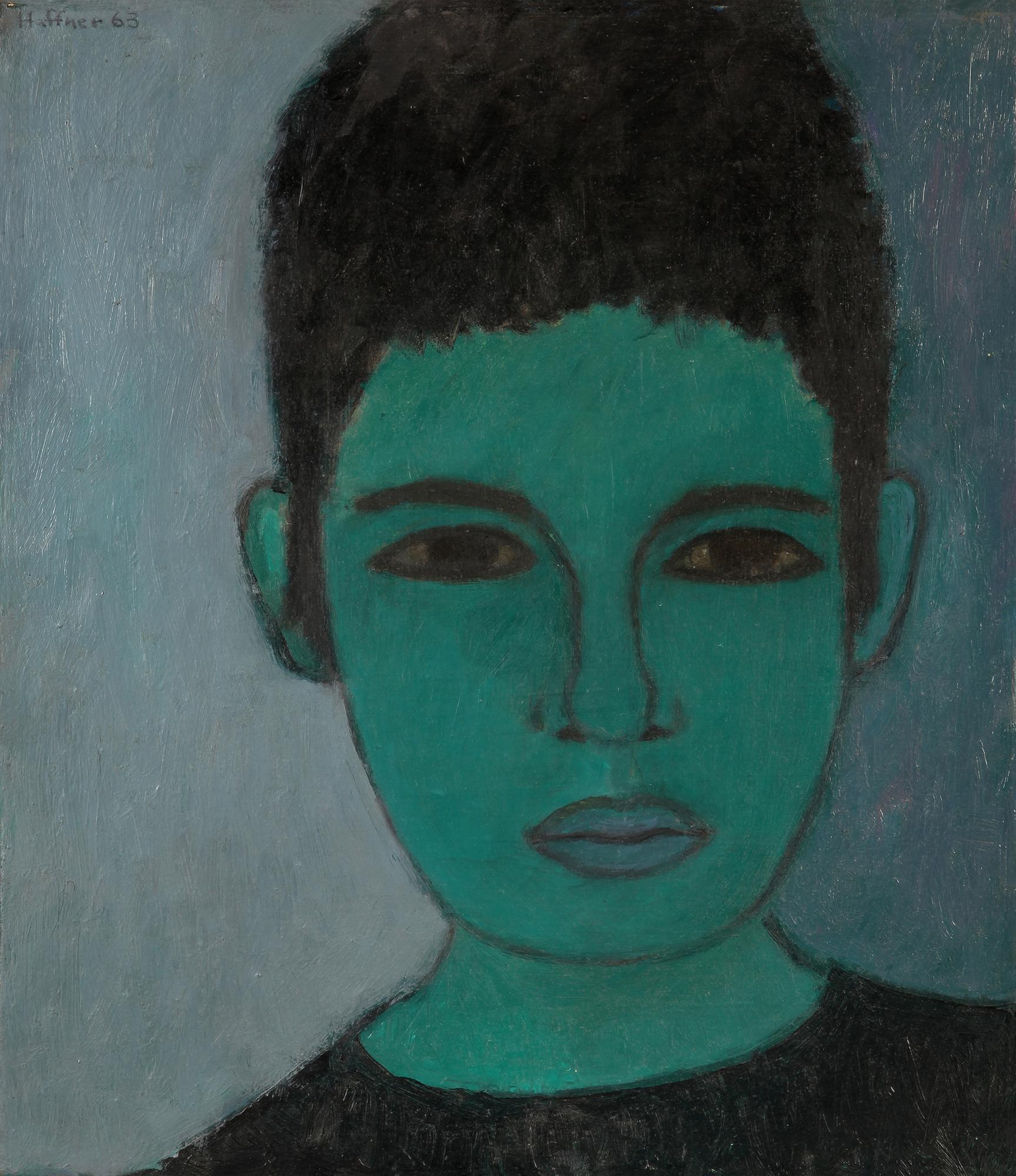 Sarah Haffner - Selbstbildnis, 1963, Öl auf Leinwand, 50 x 39 cm