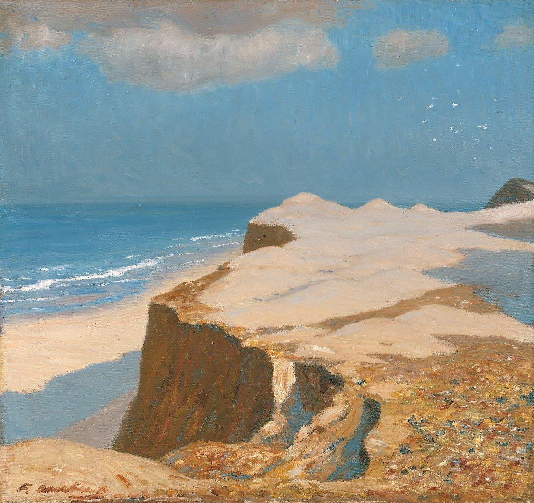 Fritz Overbeck, Morgen am Strand, Kliff bei Kampen, 1907, Öl auf Leinwand, 73x76cm