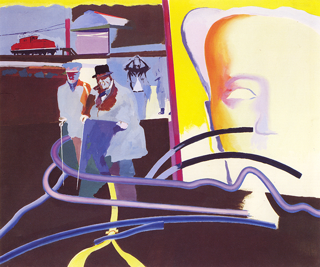 Ulrich Baehr, Neon Mao, 1968, Acryl auf Leinwand, 140 x 160 cm