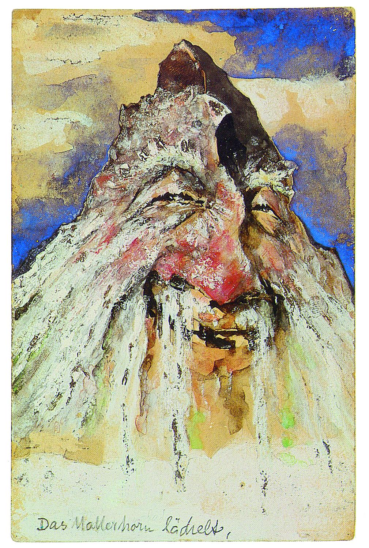 Emil Nolde, Das Matterhorn lächelt, Bergpostkarte, 1896. © Nolde-Stiftung Seebüll.