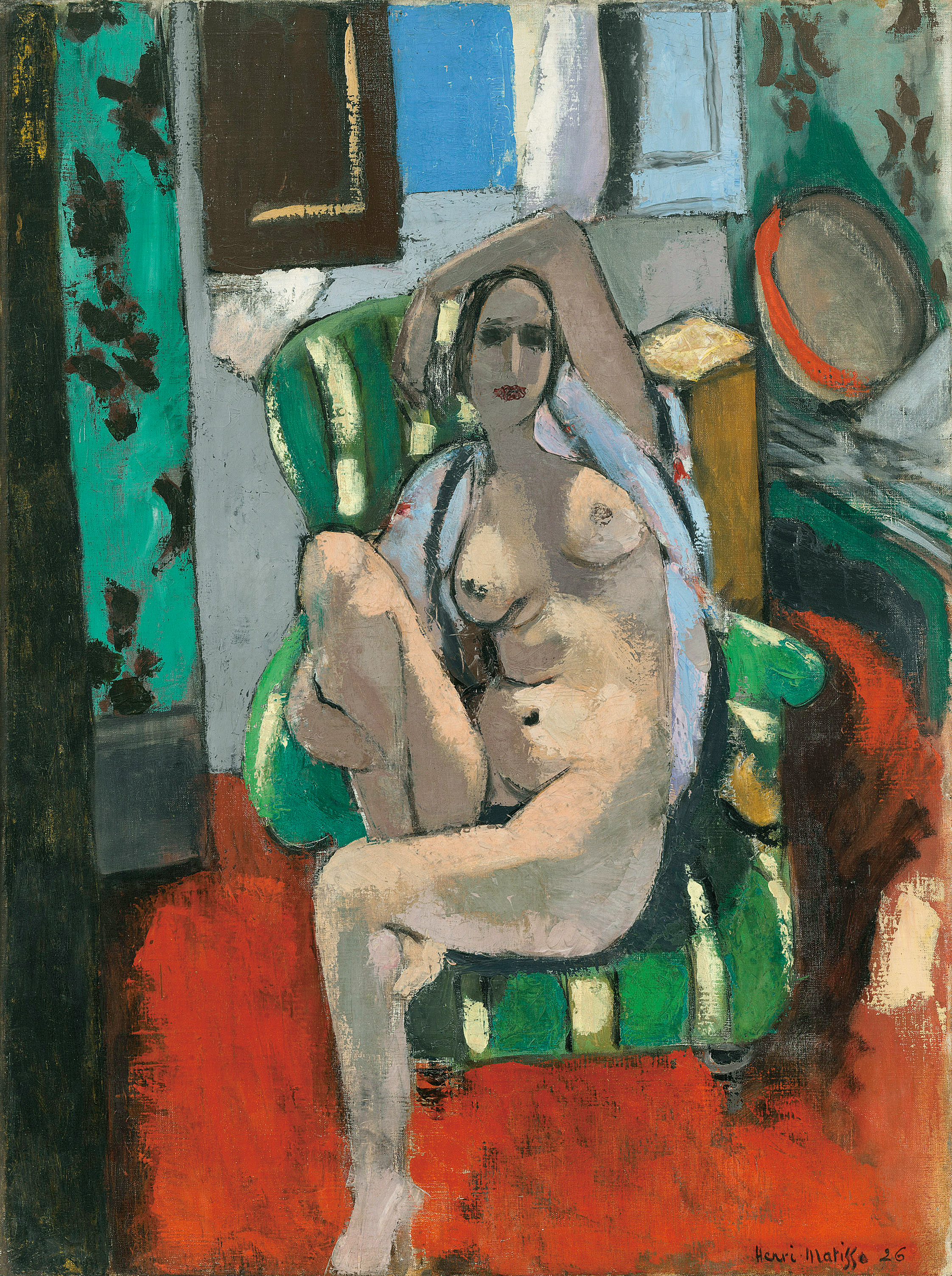 Henri Matisse (1869 – 1954). Odaliske mit einem Tamburin, 1925/26. Öl auf Leinwand, 74,3 x 55,6 cm. The Museum of Modern Art, New York/© Succession H. Matisse / VG Bild-Kunst. Bonn 2017 / Foto: 2017. Digital Image, The Museum of Modern Art, New York / Scala, Florenz