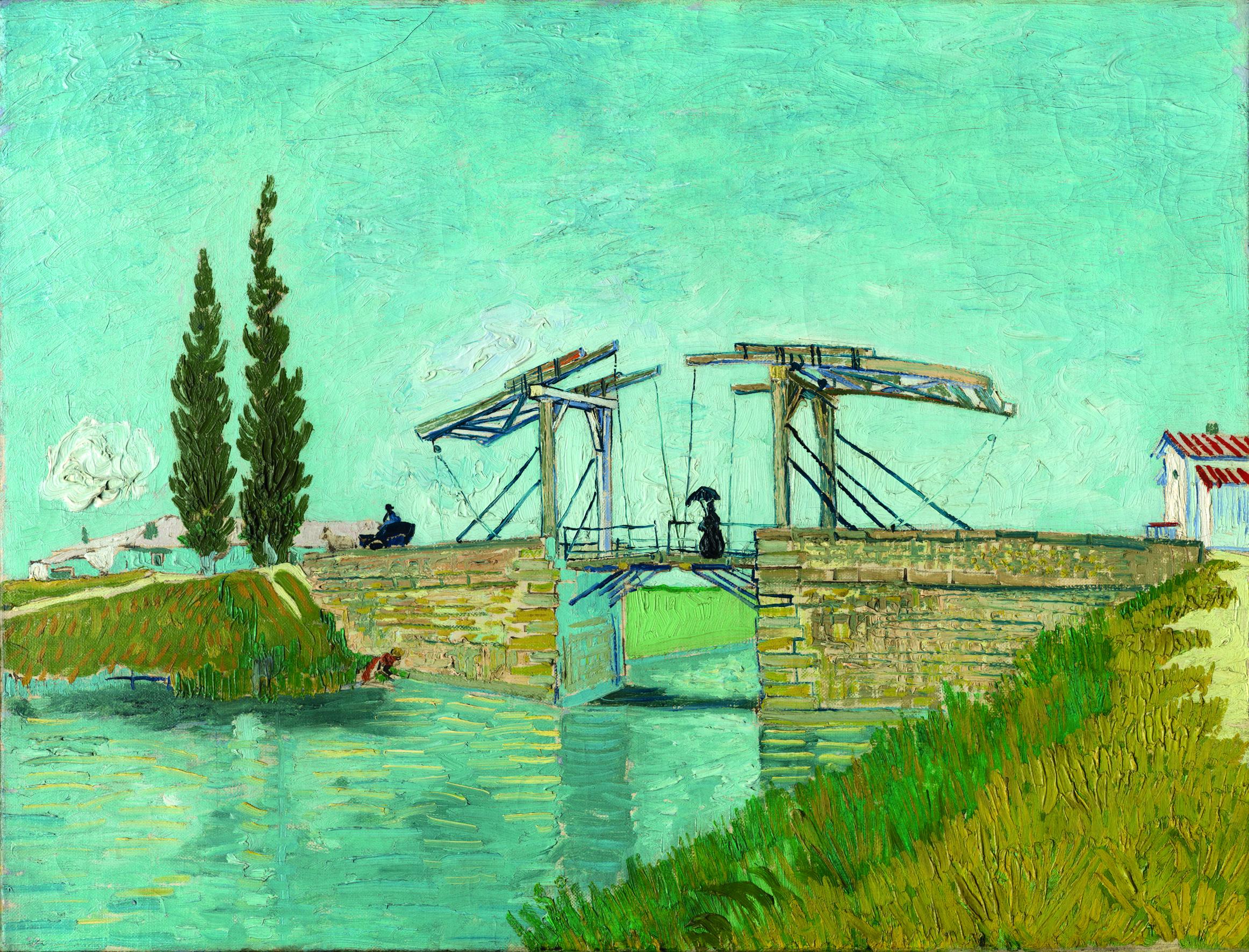 Vincent van Gogh, Die Zugbrücke, 1888, Öl auf Leinwand, Wallraf-Richartz-Museum & Fondation Corboud, Köln, Foto: © Rheinisches Bildarchiv, Köln