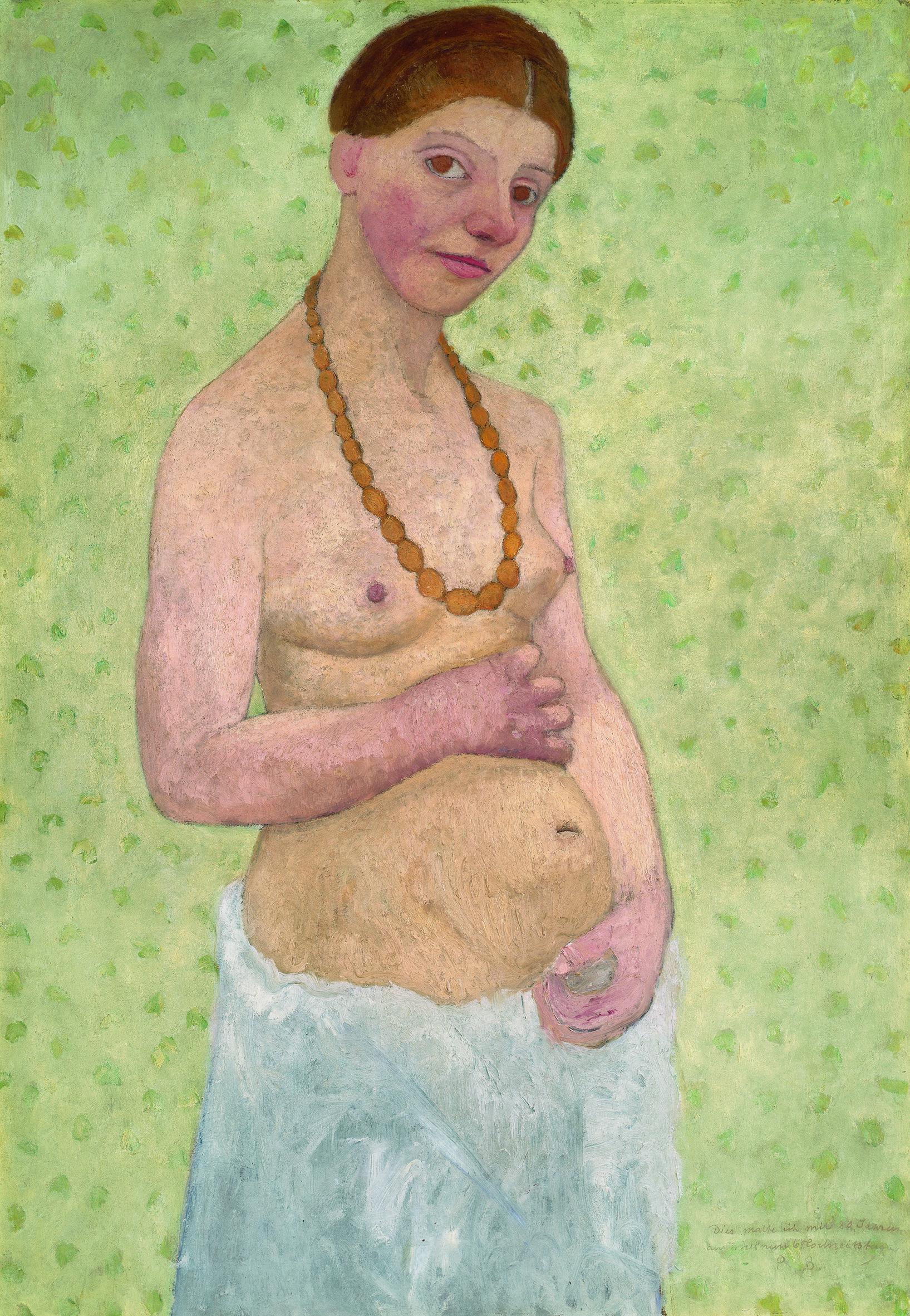 Paula Modersohn-Becker Selbstbildnis am 6. Hochzeitstag, 1906. Museen Böttcherstraße, Paula Modersohn-Becker Museum, Bremen