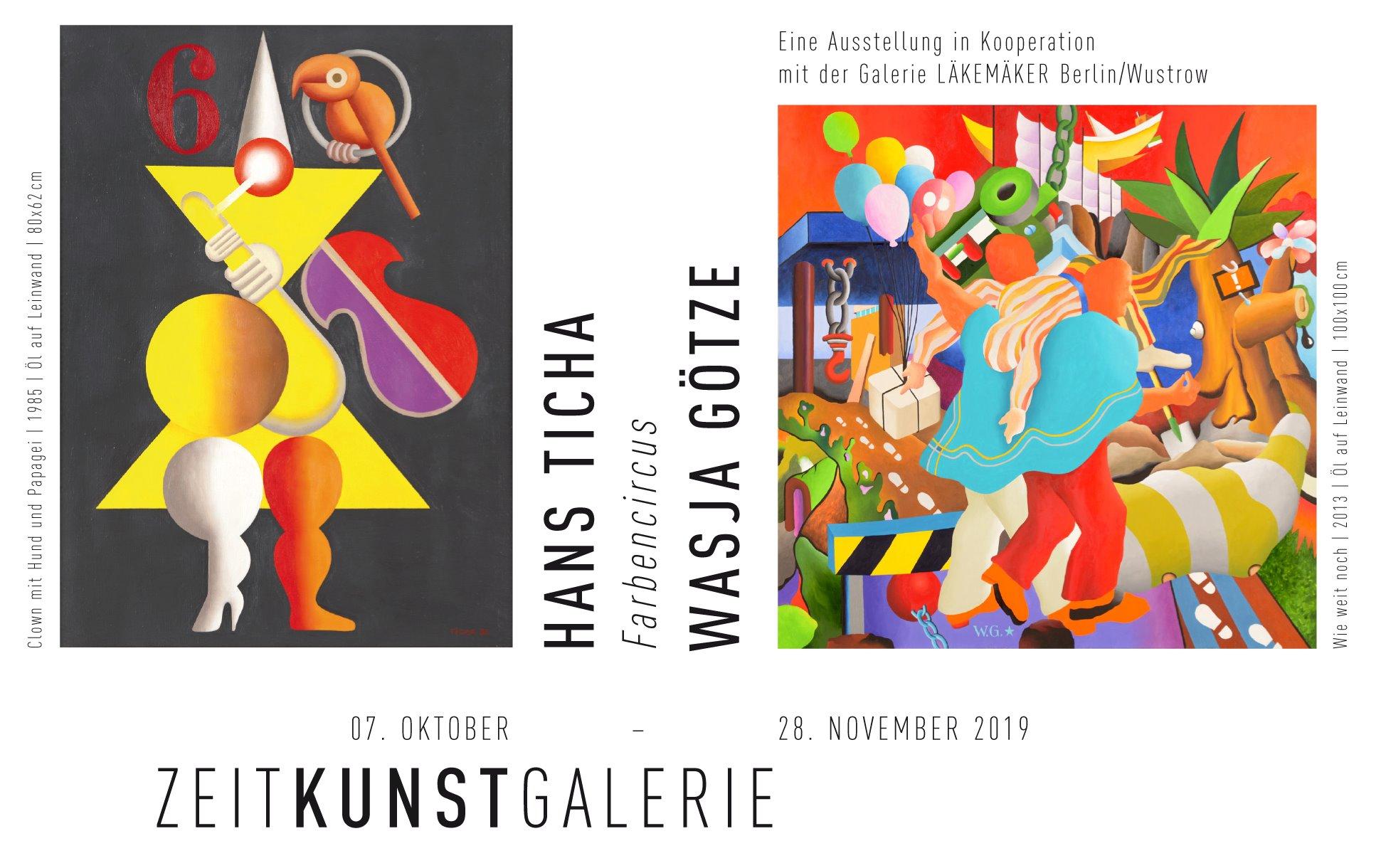 Einladung: Wasja Götze und Hans Ticha