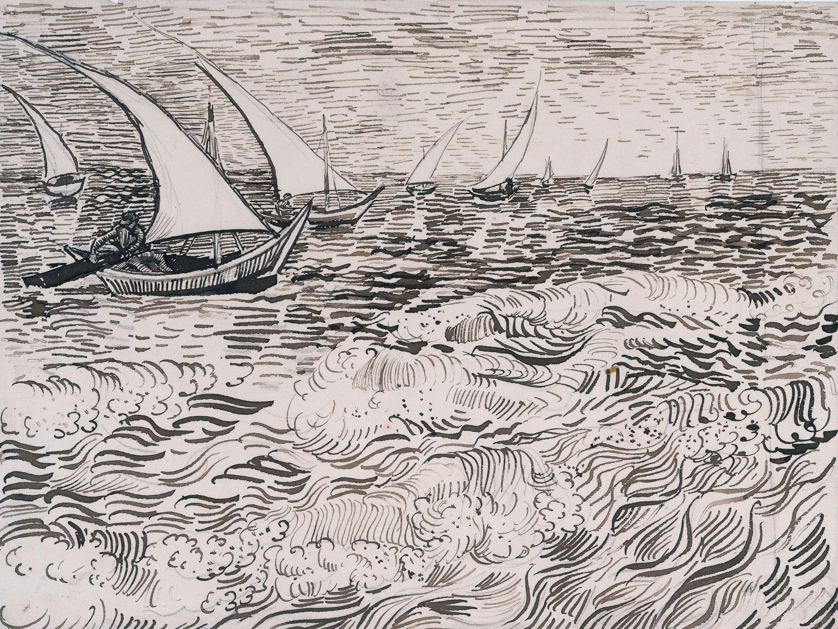 Vincent van Gogh: Brandung, 1888© Staatliche Museen zu Berlin, Kupferstichkabinett / Jörg P. Anders