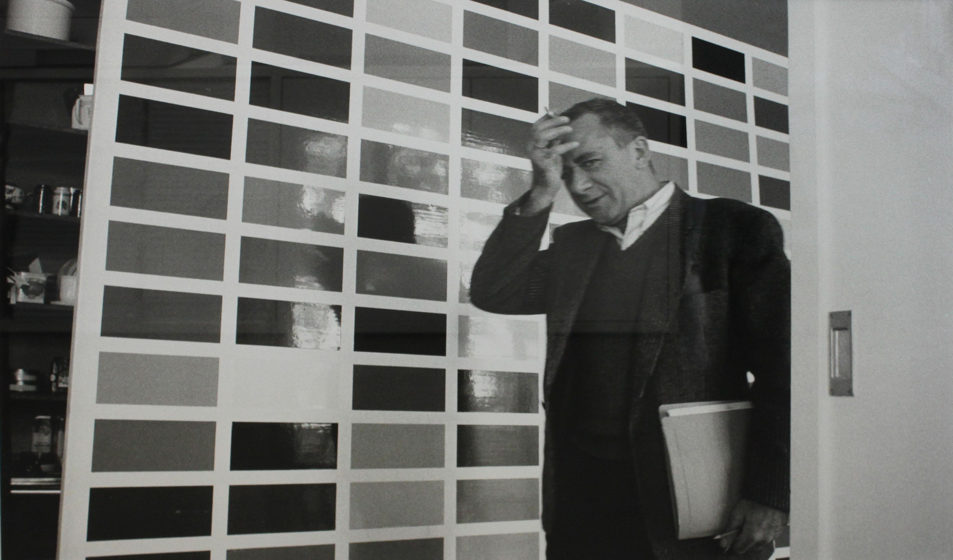 Gerhard Richter im Kölner Atelier, 1991. Foto: Benjamin Katz. Copyright VG Bild-Kunst Bonn 2017.