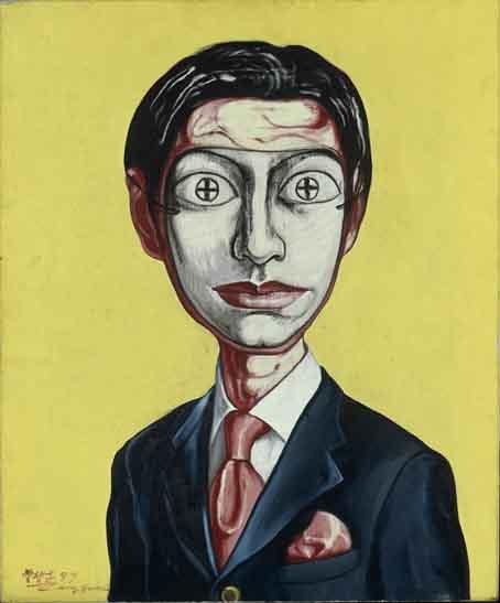 Zeng Fanzhi, Mask Series no. 25, 1997, ahlers collection © 2017 Zheng Fanzhi