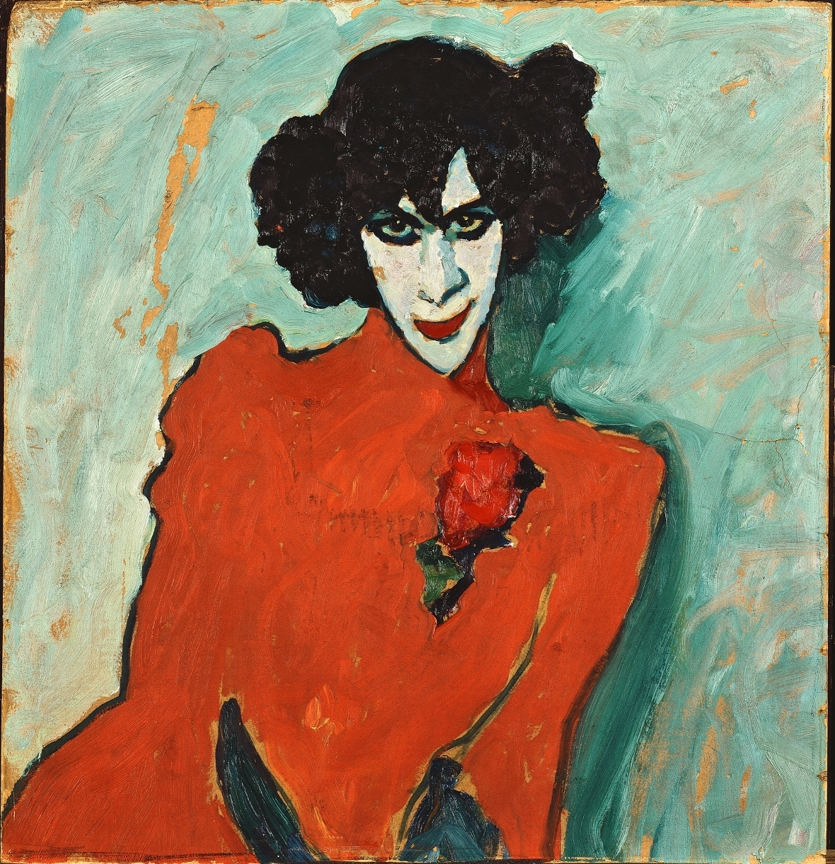 ALEXEJ JAWLENSKY: Bildnis des Tänzers Sacharoff / Portrait of the Dancer Alexander Sacharoff, 1909. © Städtische Galerie im Lenbachhaus und Kunstbau, München