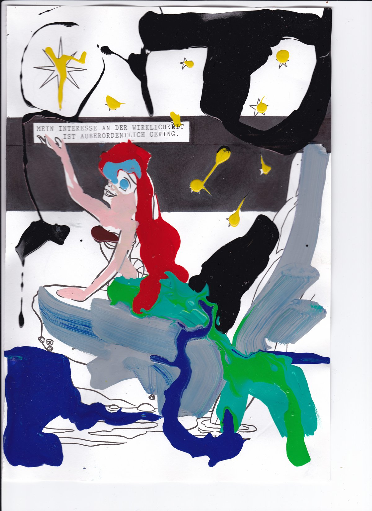 Lisa Kränzler, o. T., 2016, Lack, Filzstift auf Papier