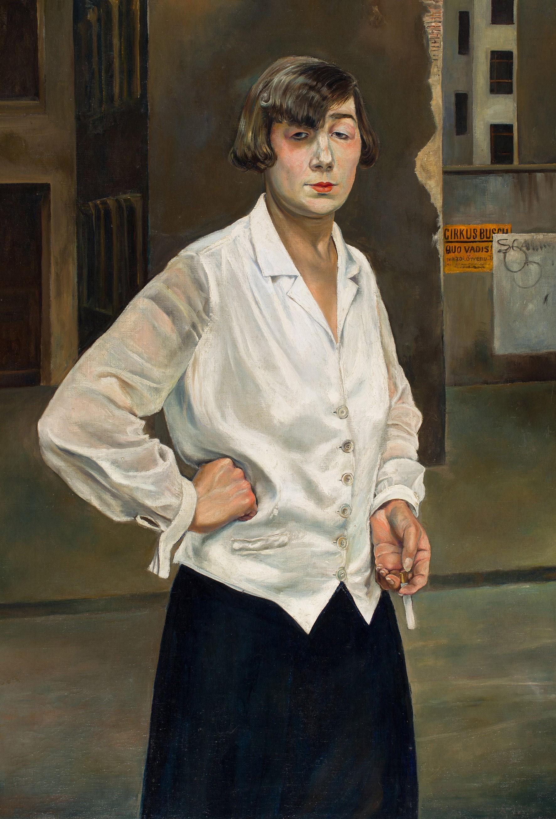 Rudolf Schlichter, Margot, Berlin, 1924, Öl auf Leinwand, 110,5 x 75 cm, Stadtmuseum Berlin, © Viola Roehr von Alvensleben, München, Foto: Michael Setzpfandt, Berlin
