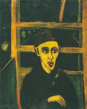 Erich Heckel: Knabe in der Tram, 1912, Öl auf Leinwand auf Pressspan, 86 x 67 cm. Kunstsammlungen Chemnitz, Leihgabe aus Privatbesitz. Foto: Jochen Littkemann, Berlin
