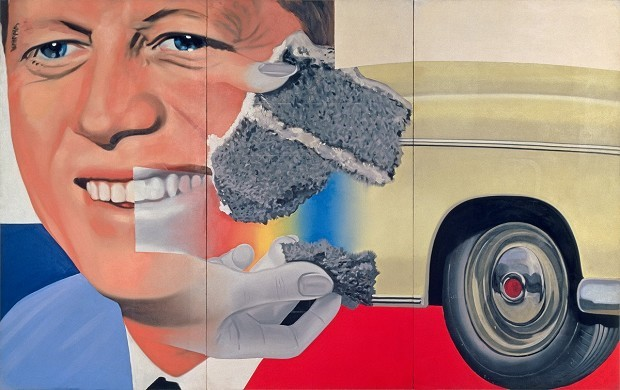 James Rosenquist, President Elect, 1960–61/1964, Centre Georges Pompidou, Musée National d'Art Moderne/Centre de Création Industrielle, Paris © Estate of James Rosenquist/VG Bild-Kunst Bonn, 2017, Foto: Courtesy of the Estate of James Rosenquist