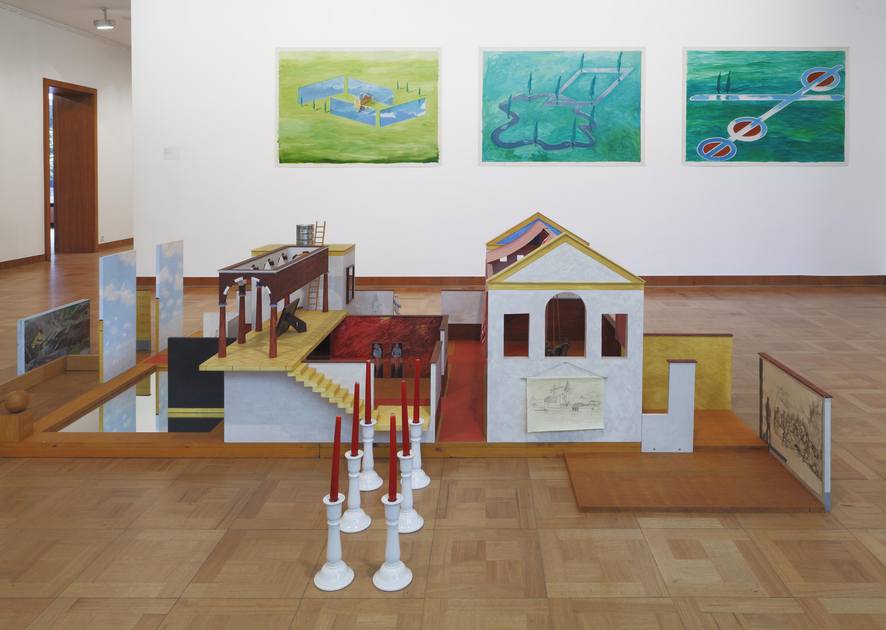 Ludger Gerdes. Installationsansicht, Von Angst bis Wollen. Ludger Gerdes, Museum Haus Lange, Krefeld 2016. Stiftung Kunstfonds. © VG Bild-Kunst, Bonn 2016. Foto: Volker Döhne