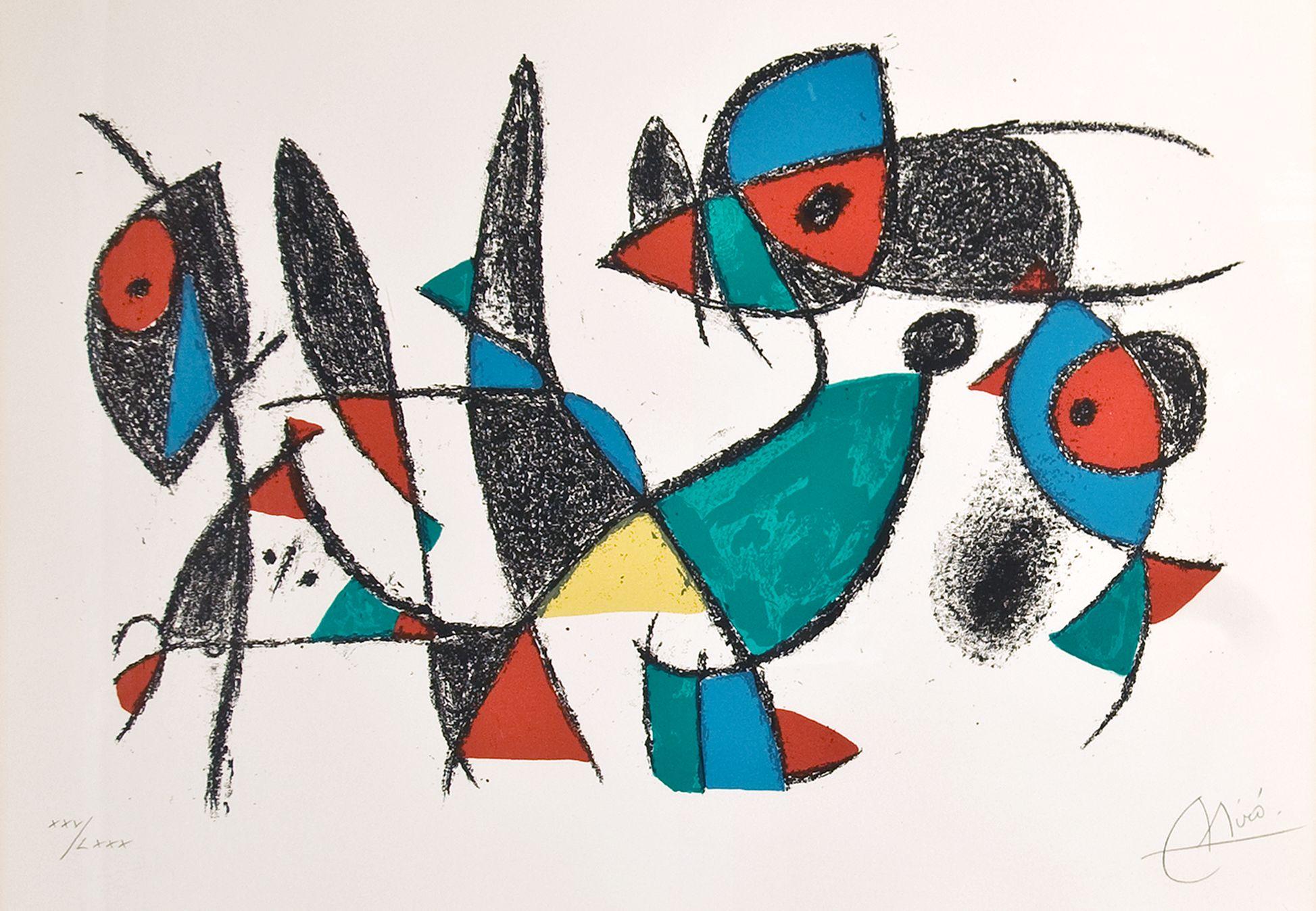 Joan Miró, Litógrafo II, 1975, © Successió Miró  VG Bild-Kunst, Bonn 2017