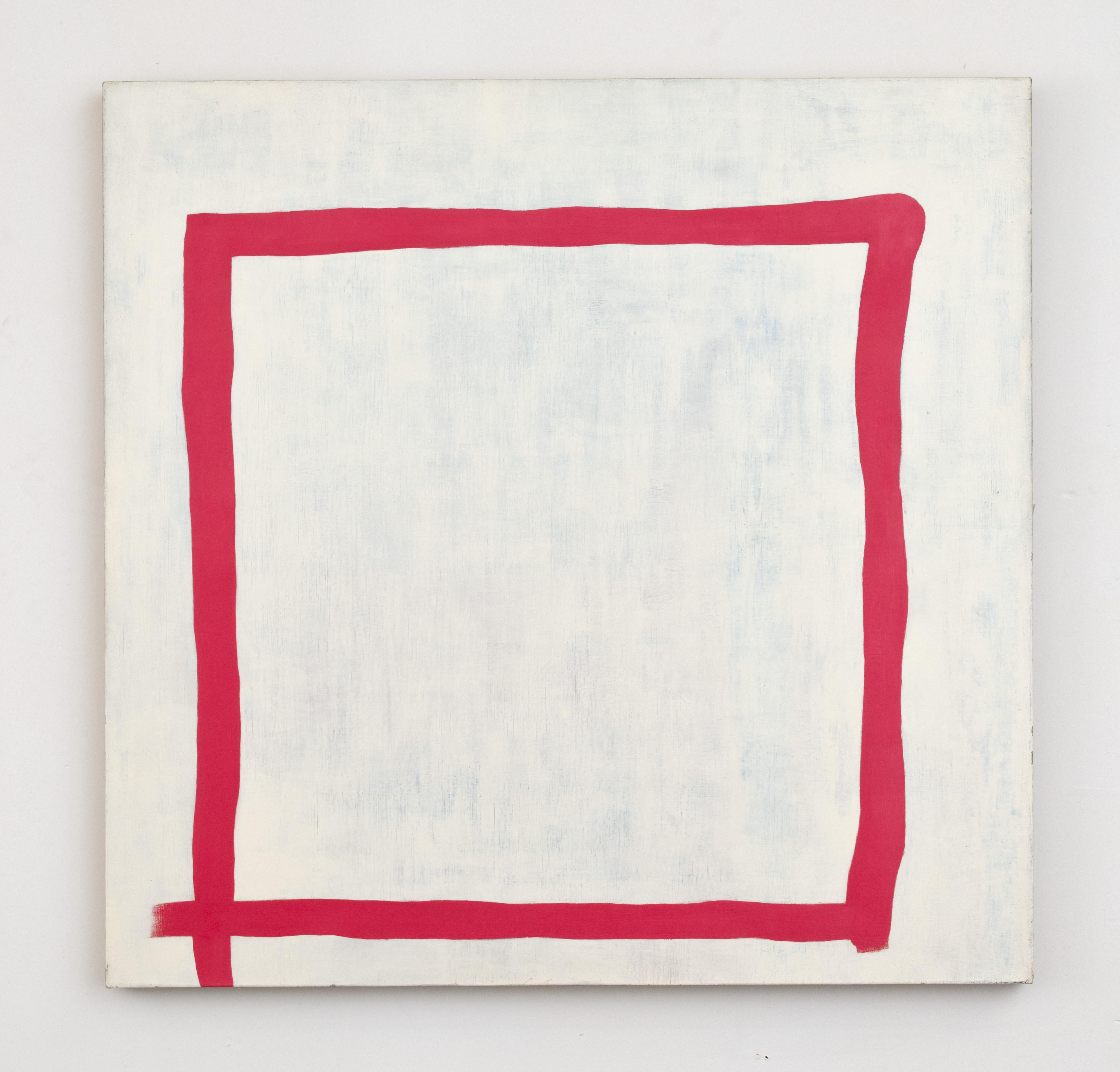 Rochelle Feinstein, Make It Behave, 1990, Öl auf Leinwand, 106,7 x 106, 7 cm, Courtesy Stellar Rays und die Künstlerin