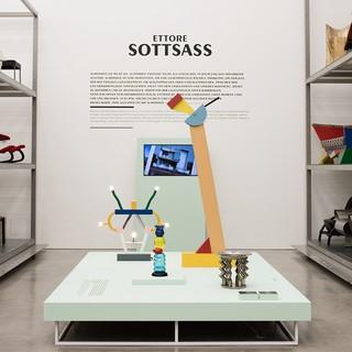 Ausstellungsansicht »Ettore Sottsass – Rebell. und Poet«, 2017 © Vitra Design Museum, Foto: Roland Schmid
