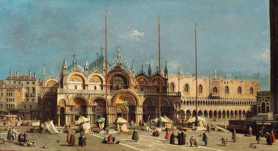 Canaletto: Markusplatz mit Dogenpalast, 1740-1750. Arp Museum Bahnhof Rolandseck/ Sammlung Rau für UNICEF, Remagen