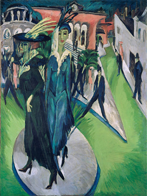 Ernst Ludwig Kirchner: Potsdamer Platz, 1914 | Öl auf Leinwand, 200 x 150 cm | © bpk / Staatliche Museen zu Berlin, Nationalgalerie / Jörg P. Anders