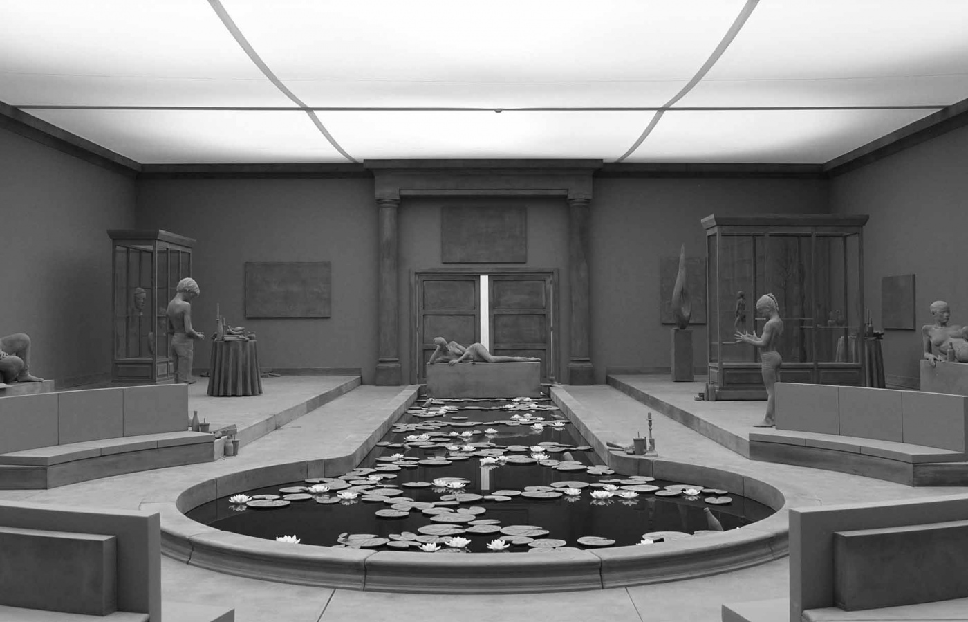 Hans Op de Beeck: THE COLLECTOR'S HOUSE, 2016. Rauminstallation (verschiedene Materialien), 20 x 12,5 x 4 m. © Hans Op de Beeck