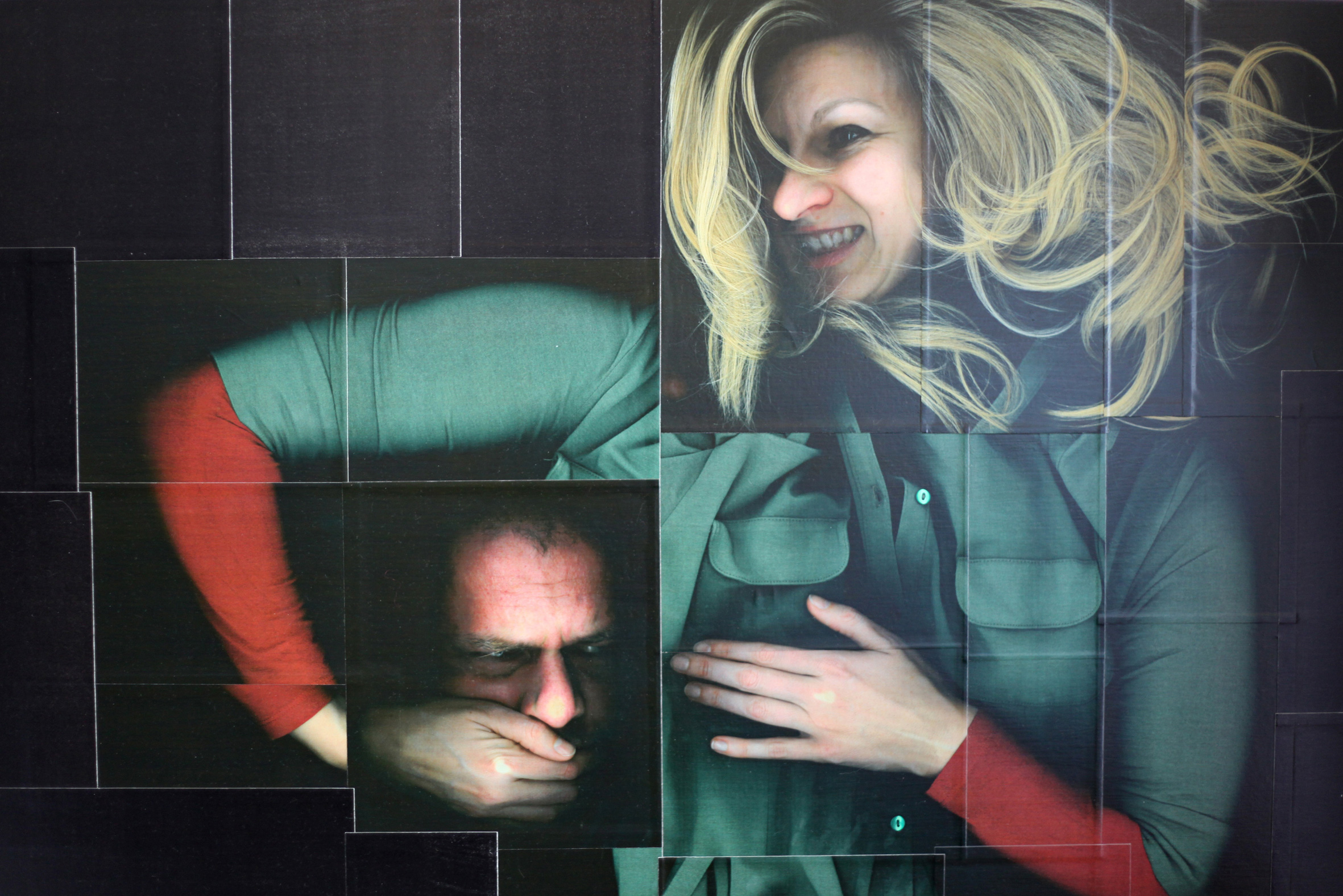 Andrea Esswein: Salomé, 2011, Farb-Kopigraphie auf Holz, UV-Lack, 120 x 90 cm. © VG Bild-Kunst, Bonn 2016 / Foto: Andrea Esswein.