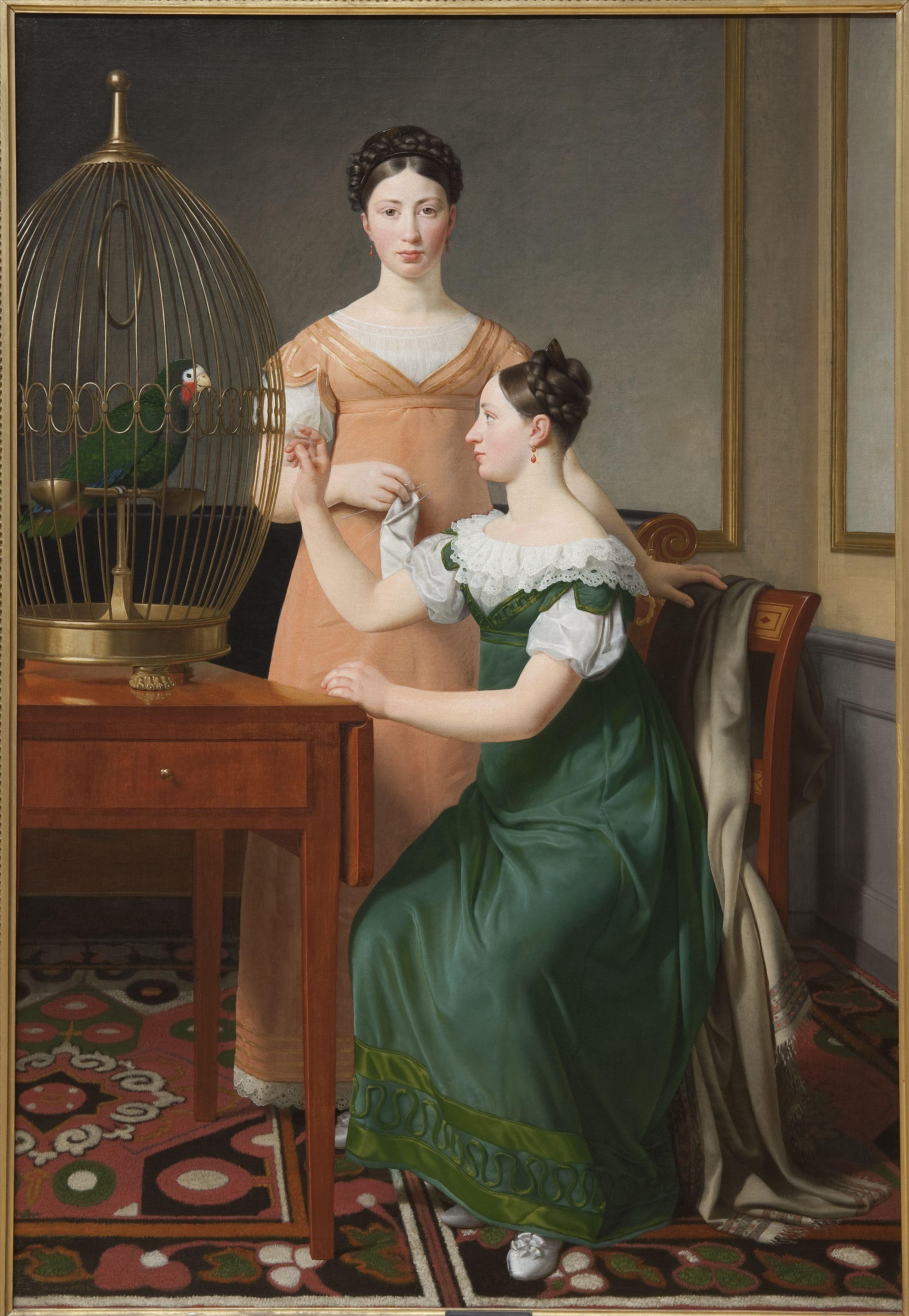 Christoffer Wilhelm Eckersberg (1783–1853). Doppelbildnis der Schwestern Bella und Hanna Nathanson, 1820, Öl auf Leinwand, 125 x 85,5 cm, Kopenhagen, Statens Museum for Kunst. Foto: SMK - The National Gallery of Denmark