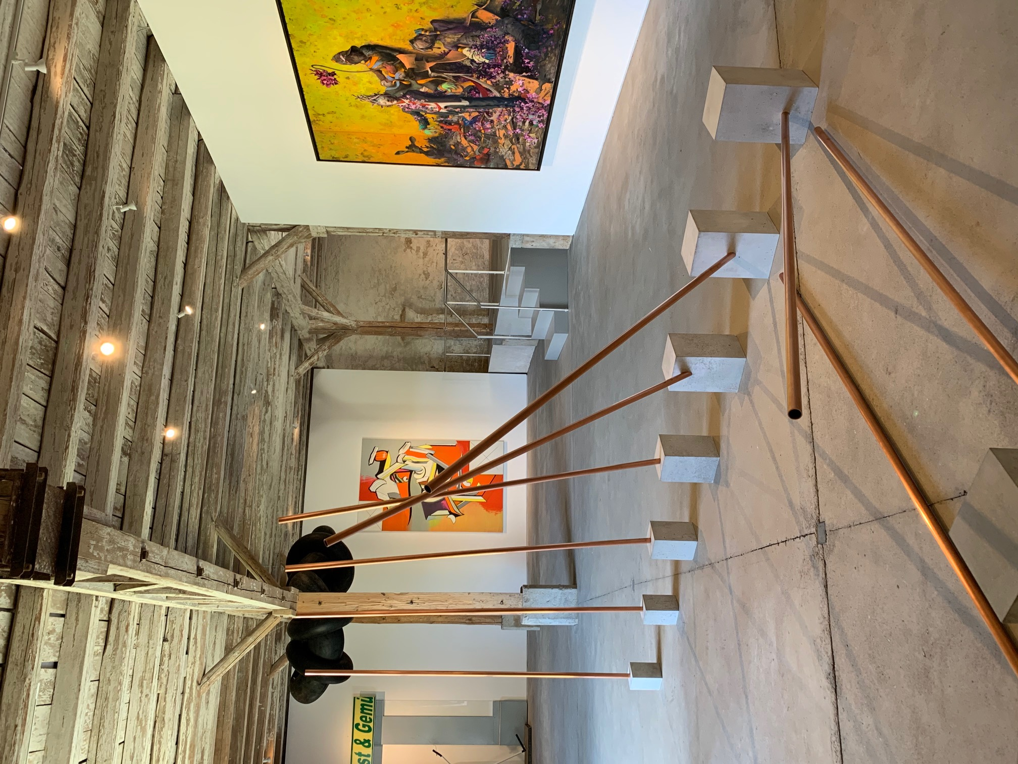 Ausstellungsansicht 'Szene Berlin', Hall Art Foundation Schloss Derneburg.