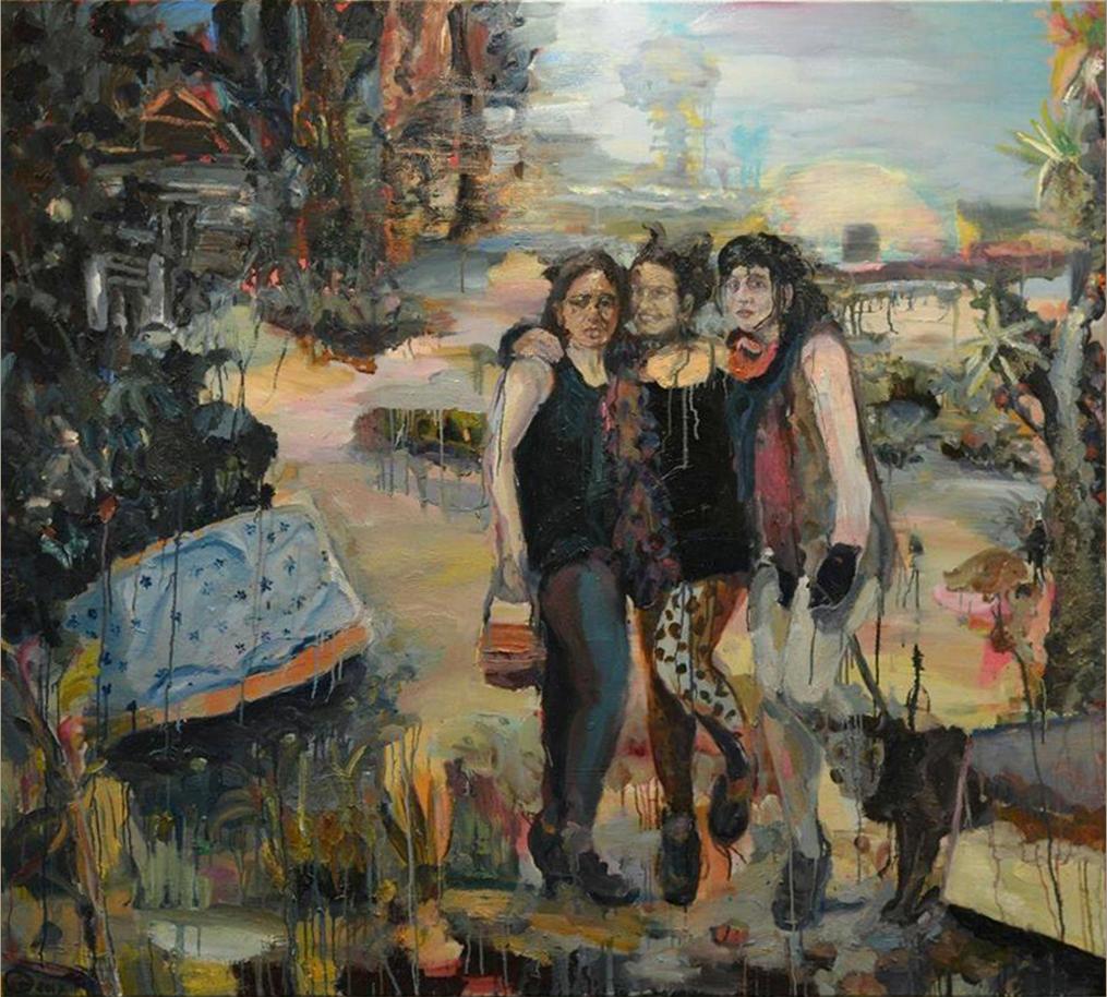 Gerard Waskievitz drei grazien 2017 Öl auf Leinwand 200cmx180cm