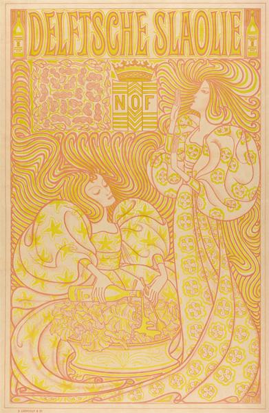 Jan Toorop (Entwurf), Delftsche Slaolie, 1895, Plakat, Farblithographie, Sammlung Gemeentemuseum Den Haag