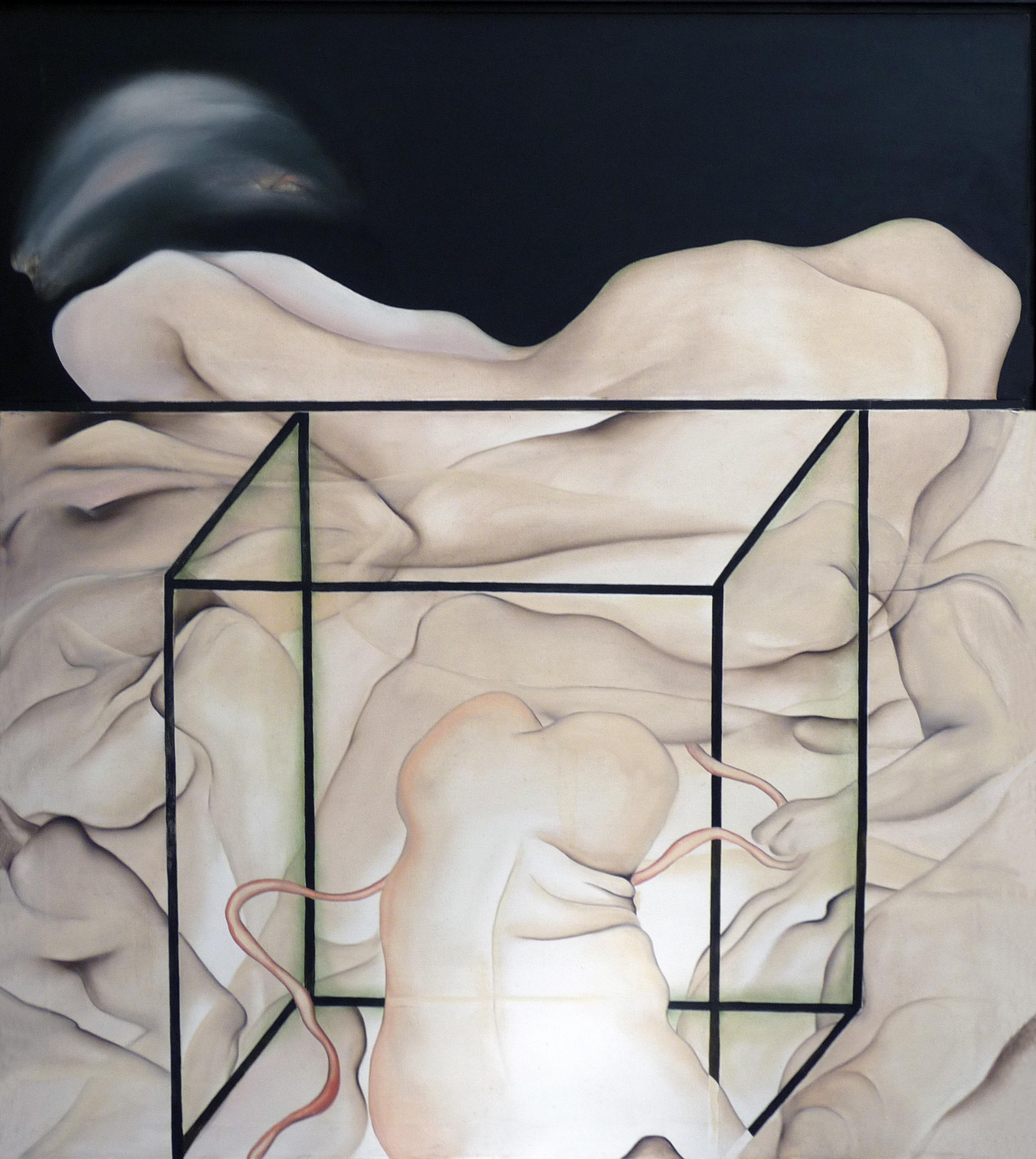 Maina-Miriam Munsky - Geburt II, 1967, Acryl auf Nessel, 136 x 120 cm