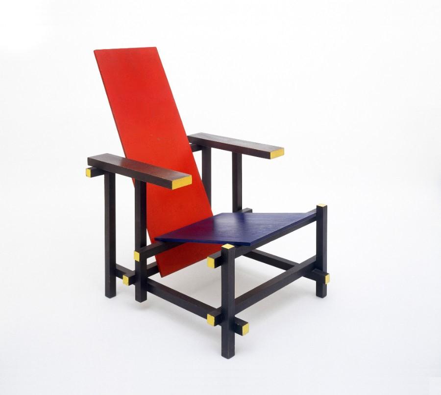G. T. Rietveld: Red Blue Chair, 1918, © Ernst Moritz/VG Bild-Kunst, Bonn 2017