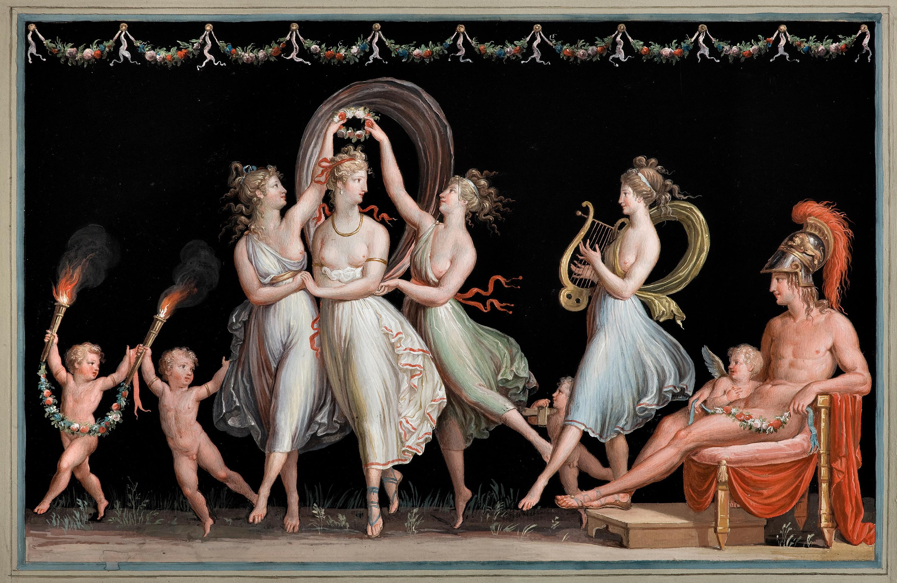 Antonio CanovaDie Grazien und Venus tanzen vor Mars, 1799Tempera auf Papier© Museo e Gipsoteca Antonio Canova, Possagno (Treviso)