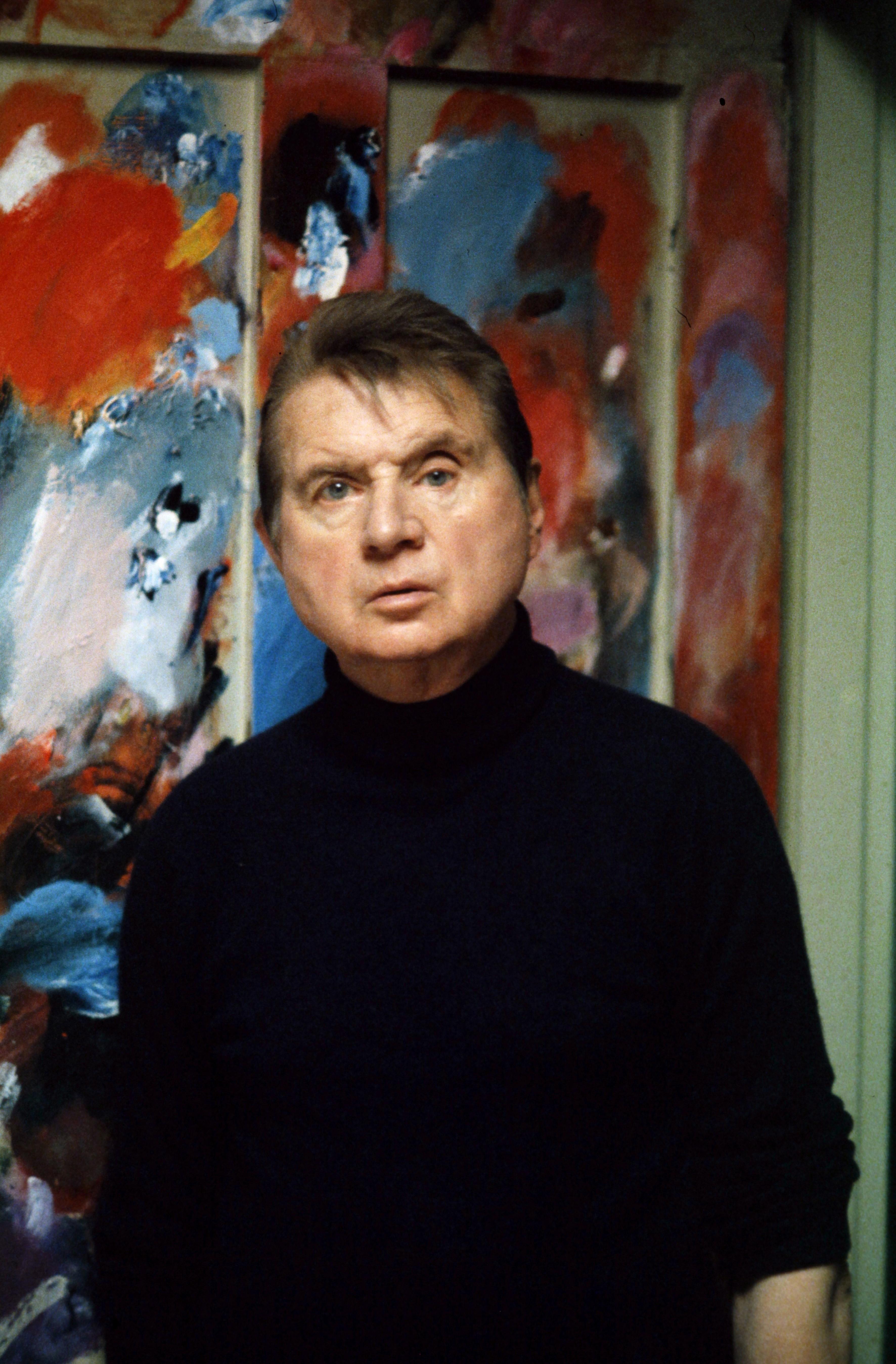 Francis Bacon in seinem Atelier. Foto: Edward Quinn, 1979. Edward Quinn Archive. Copyright edwardquinn.com