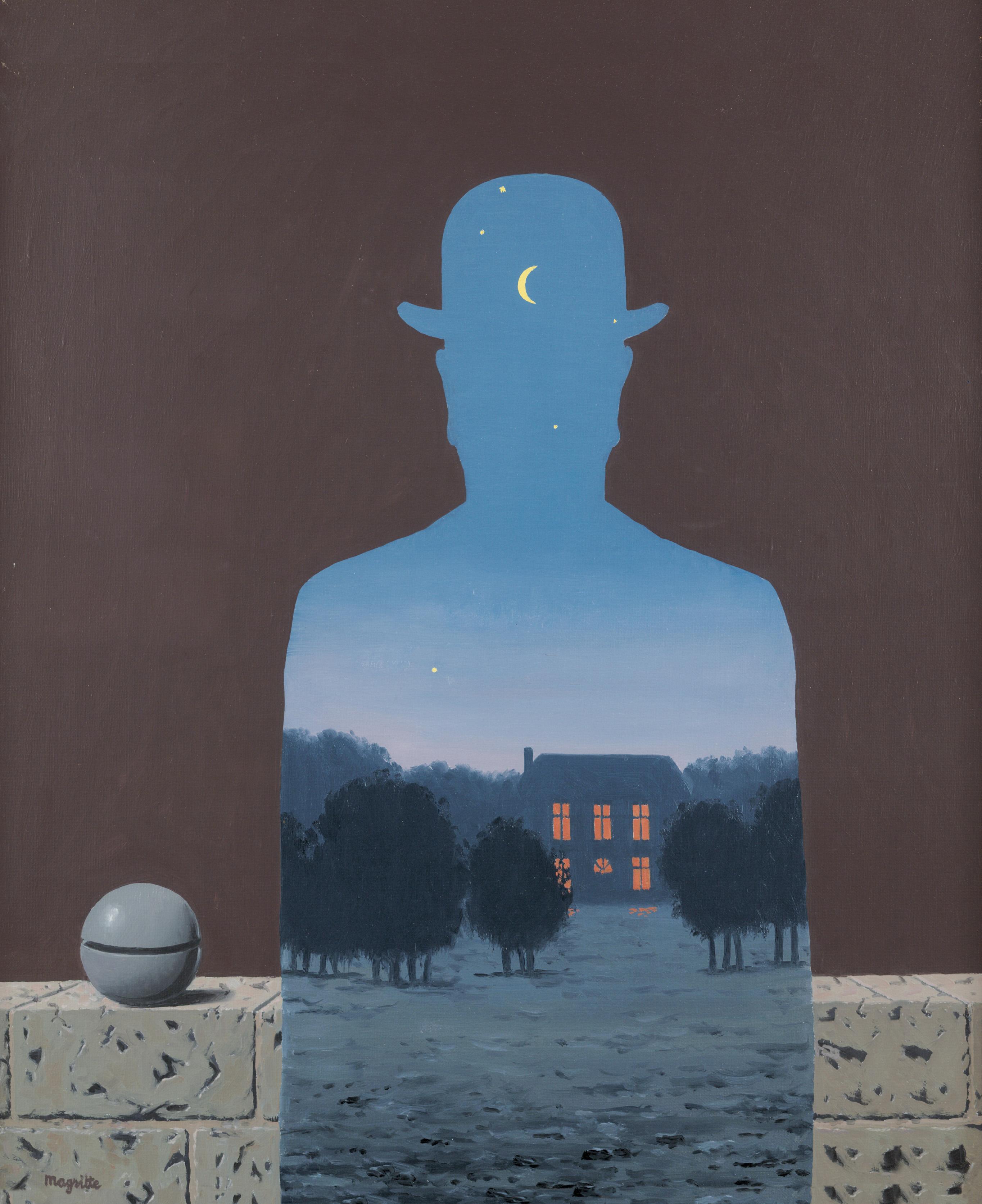 René Magritte, L'Heureux donateur, 1966, Öl auf Leinwand, 55,5 x 45,5 cm, Musée d'Ixelles-Brussels, Photo: Mixed Media © VG Bild-Kunst, Bonn 2017