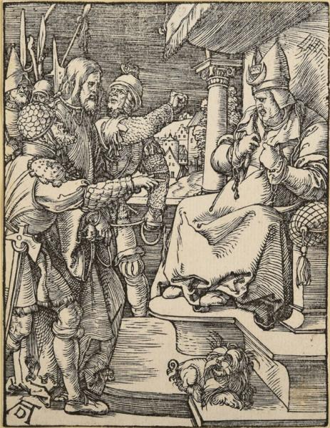 Albrecht Dürer, Christus vor Kaiphas, 1509-11, Sammlung Wörner.