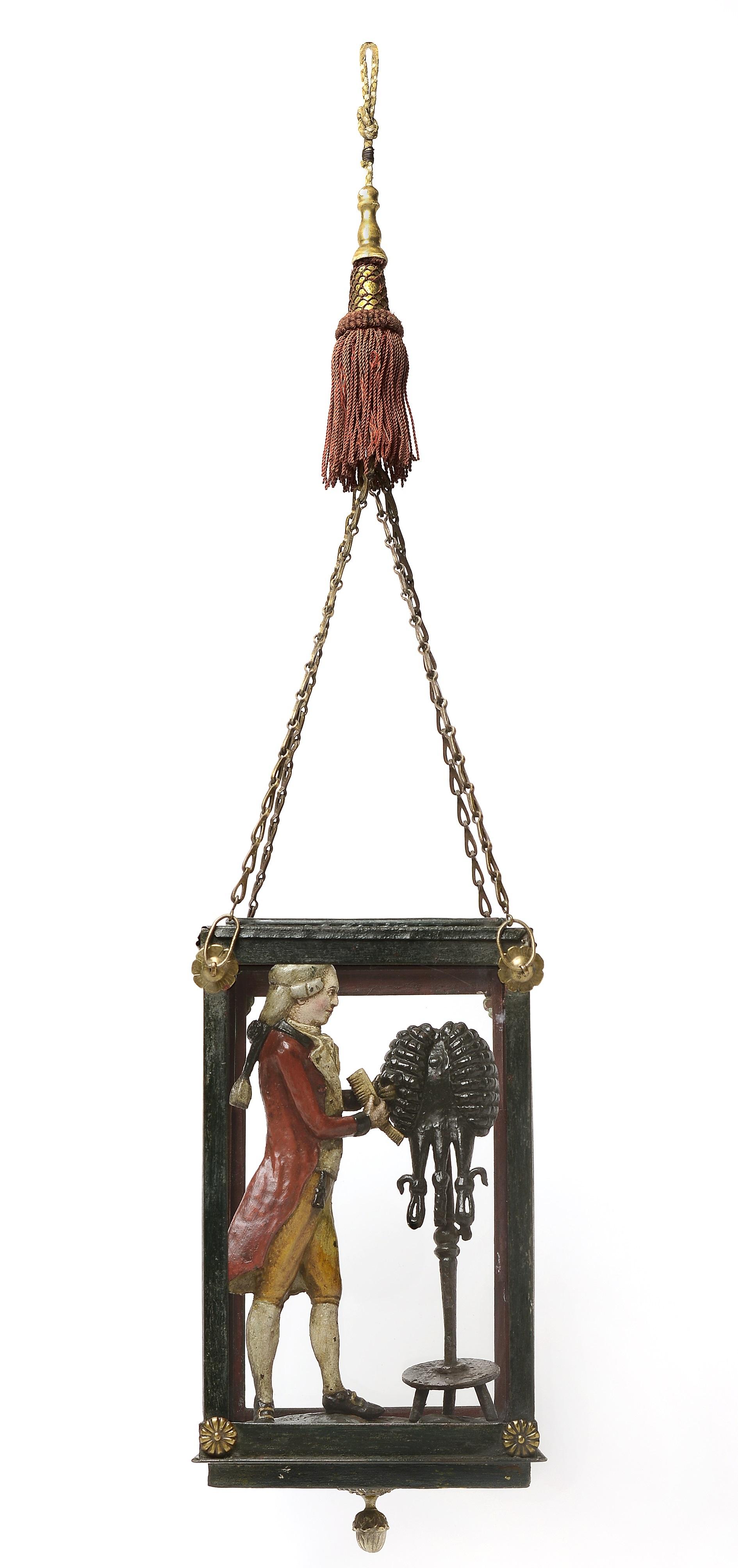 Zunftzeichen der Perückenmacher, um 1730, © Lenz Mayer