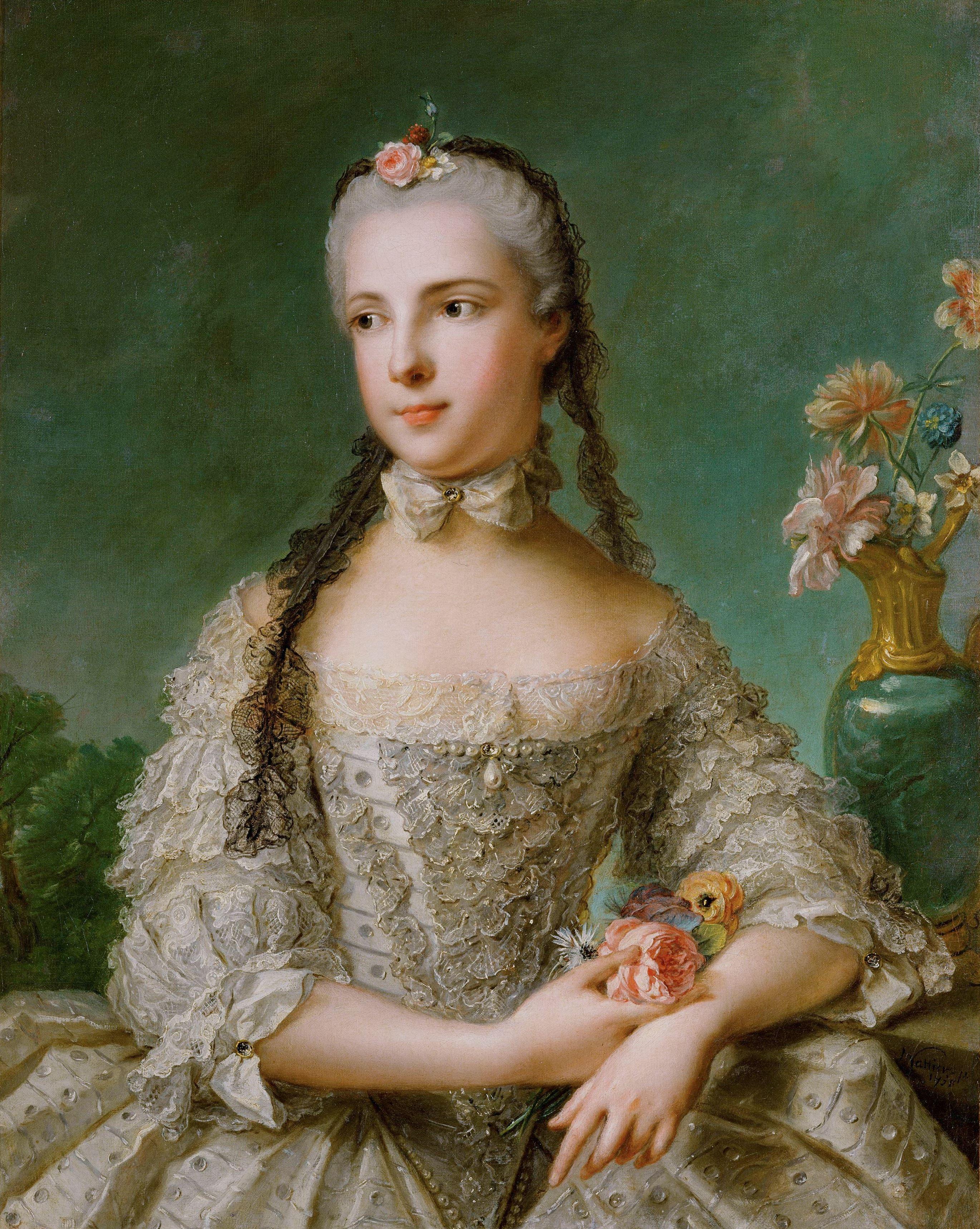 Prinzessin Maria Isabella von Parma (1741–1763), Gemahlin von Joseph II.. Kunsthistorisches Museum Wien. Jean Marc Nattier d. J, 1758 datiert. Gemälde. © KHM–Museumsverband Wien