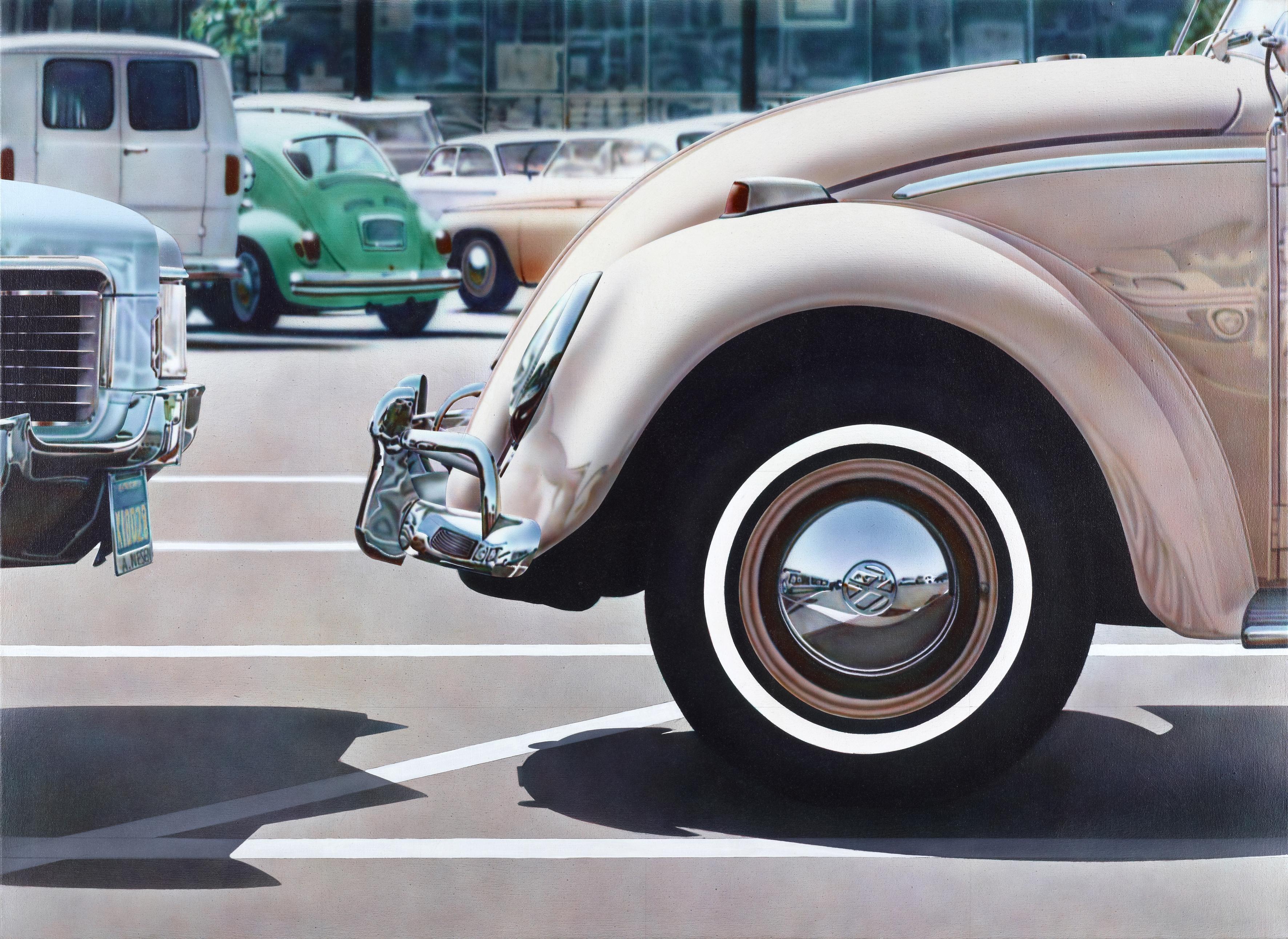 Don Eddy: Untitled (Volkswagen), 1971, Acryl auf Leinwand, 122 × 152 × 4 cm. Museum moderner Kunst Stiftung Ludwig Wien. Leihgabe der Österreichischen Ludwig-Stiftung seit 1991. © Don Eddy 2016