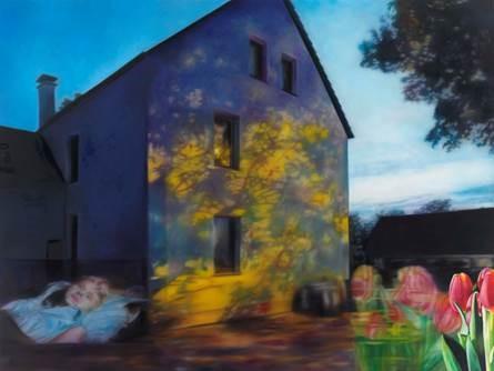Karin Kneffel, o.T., (2013/12), 2013, Öl auf Leinwand, 180 x 240 cm, The Strack Collection, © VG Bild-Kunst, Bonn 2017, Foto: Achim Kukulies
