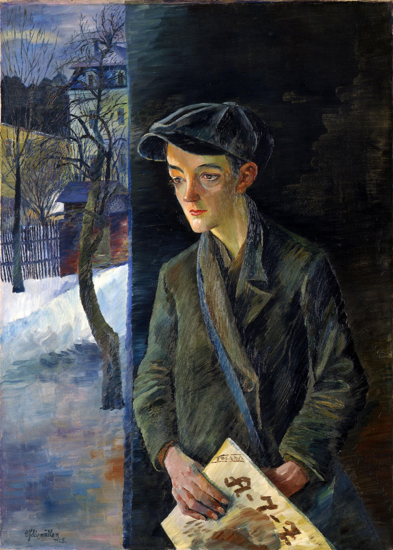 Conrad Felixmüller (1897-1977), Zeitungsjunge, 1928, Öl auf Leinwand, Lindenau-Museum Altenburg © VG Bild-Kunst, Bonn 2019