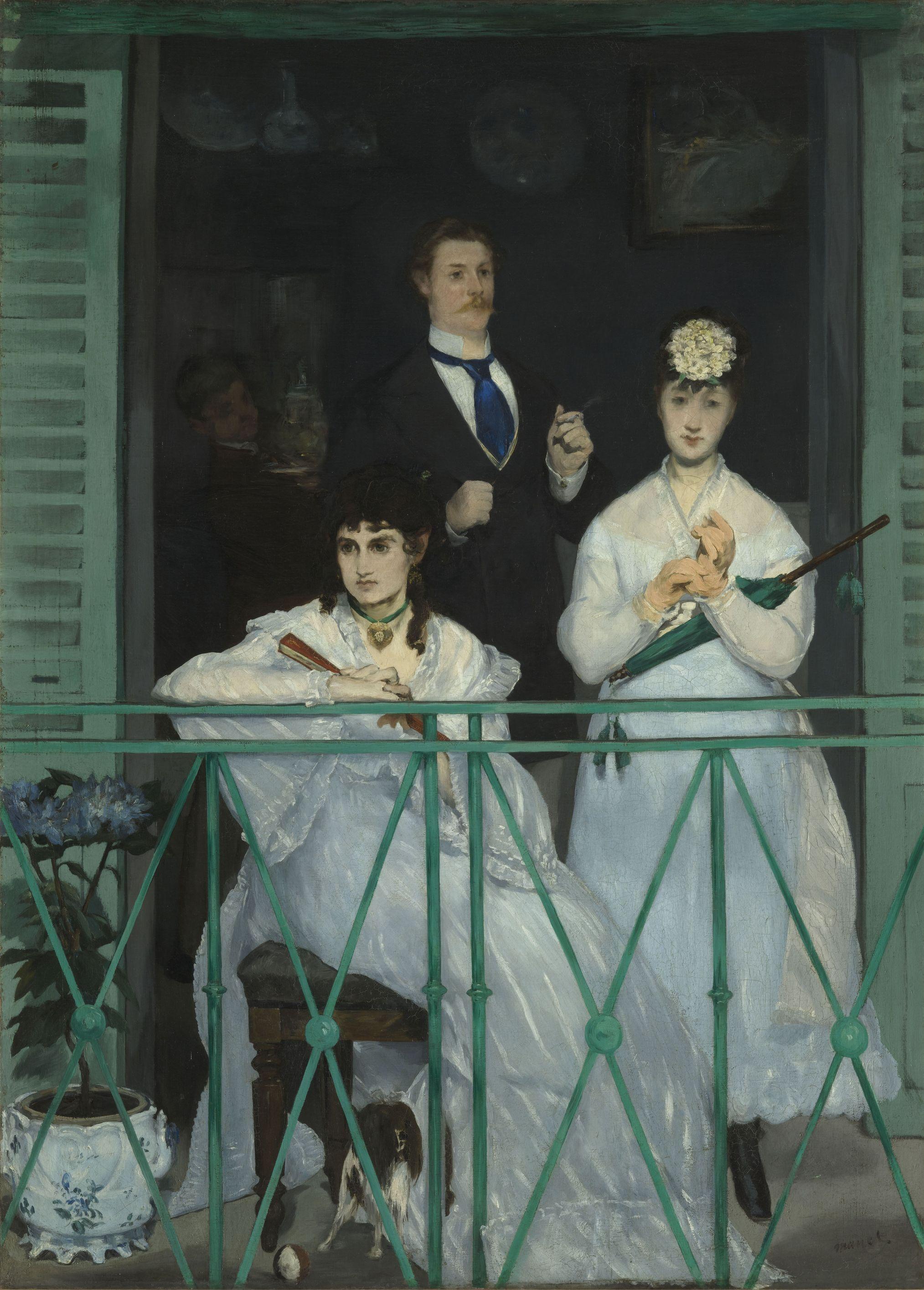 Le balcon / Der Balkon, um 1868/69. Édouard Manet. Öl auf Leinwand, 170 x 124,5 cm. Musée d'Orsay, Paris © bpk/RMN – Grand Palais. Foto: Hervé Lewandowski