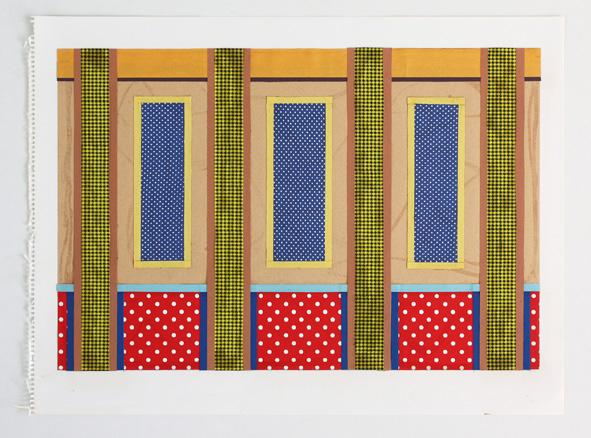 Ludger Gerdes, Ohne Titel, 1982, Collage, Bleistift auf Papier, © Stiftung Kunstfonds, VG Bild-Kunst, Bonn 2017, Foto: Archiv für Künstlernachlässe der Stiftung Kunstfonds