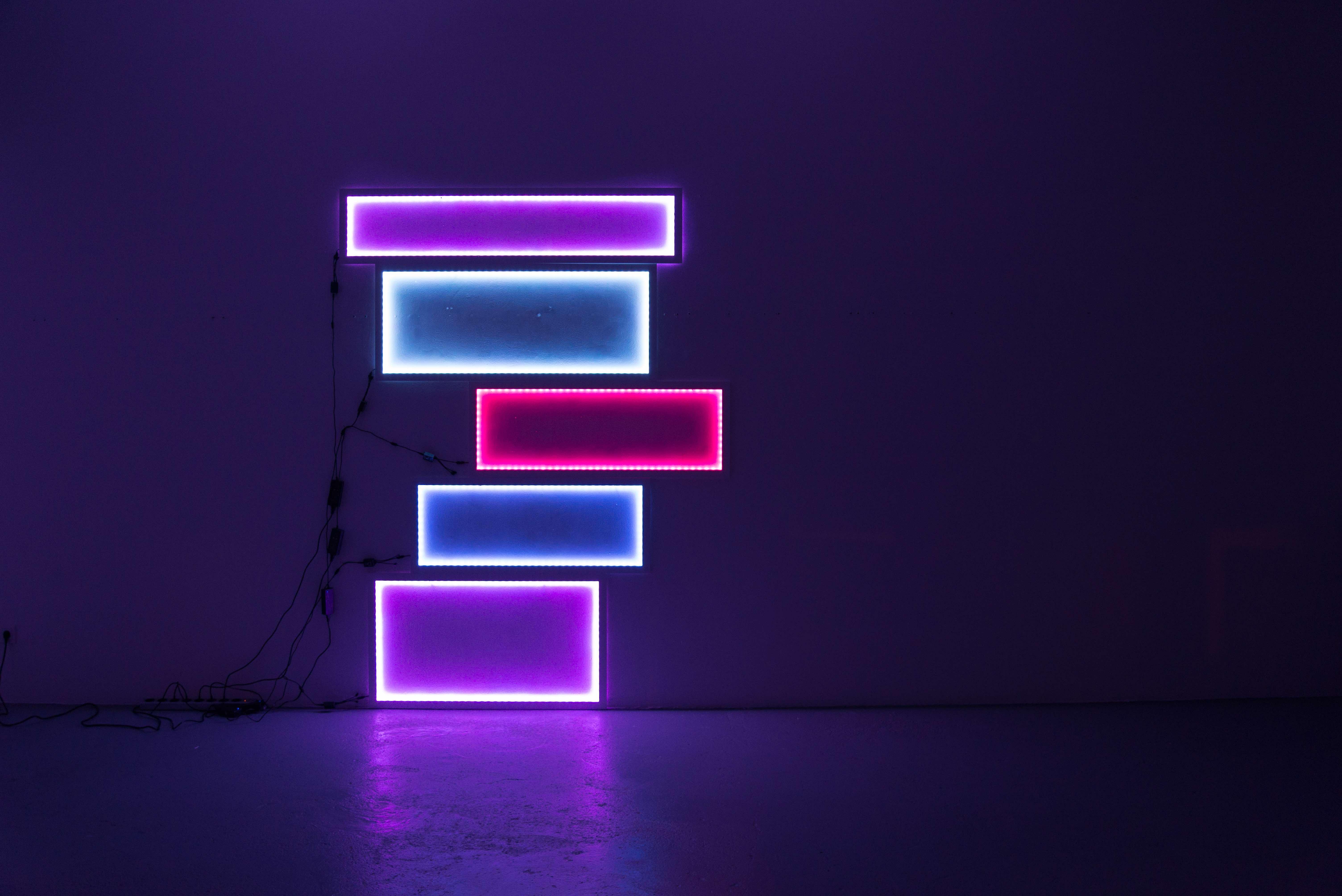 LEDs und Rahmen, Größe: variabel (© e.artis contemporary)