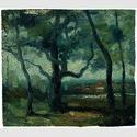 Jean-Baptiste Camille Corot, Der Große Baum (Studie), um 1865. Christoph Heilmann Stiftung am Lenbachhaus in München