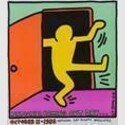 Keith Haring (1958-1990), National Coming Out Day, entstanden für die 'National Gay Rights Advocates', New York, USA, 1988, Offsetlithografie, 66 x 58,4 cm, © Keith Haring Foundation